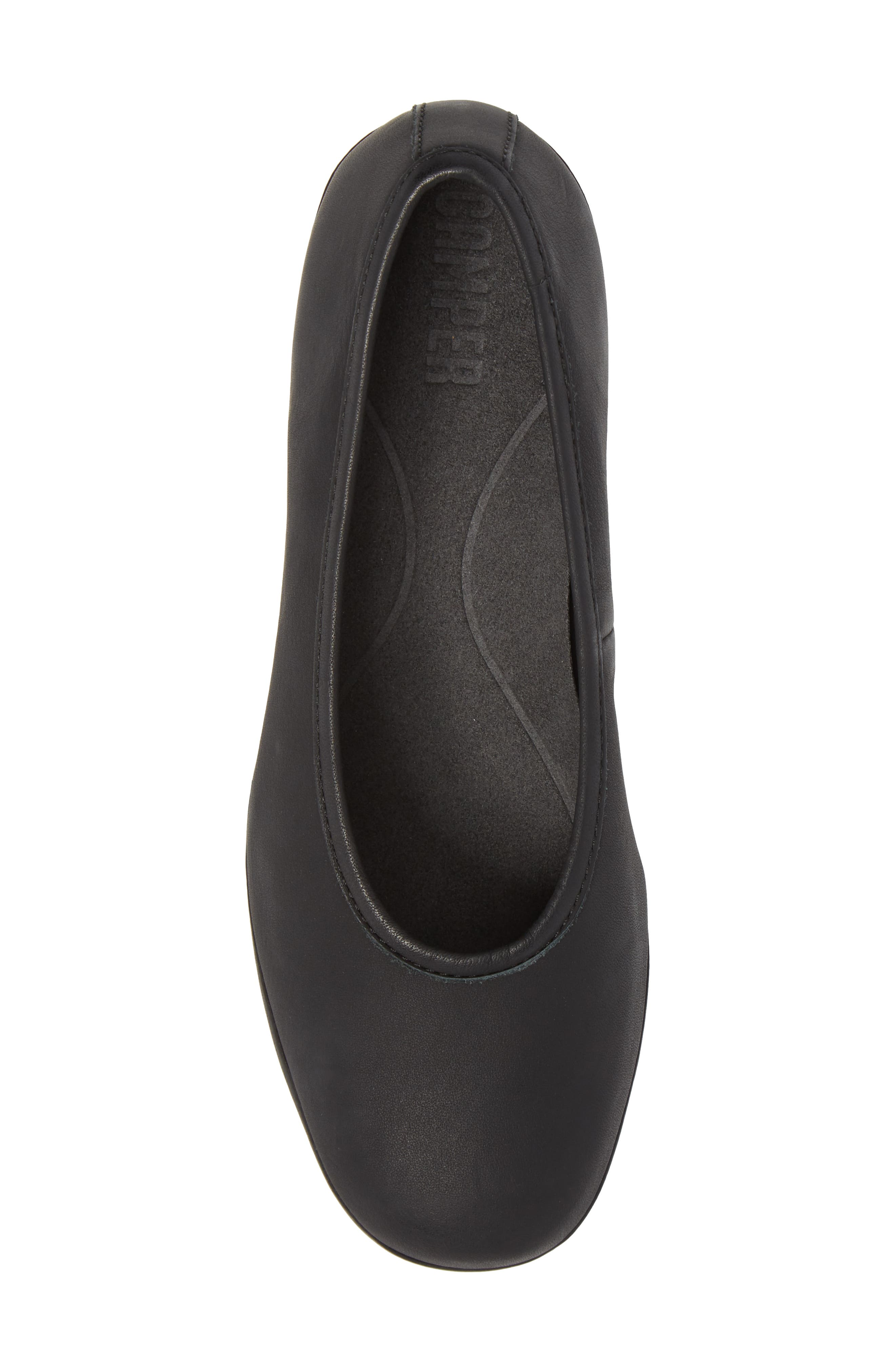 Alright Cone Heel Pump,                             Alternate thumbnail 5, color,                             Black Leather