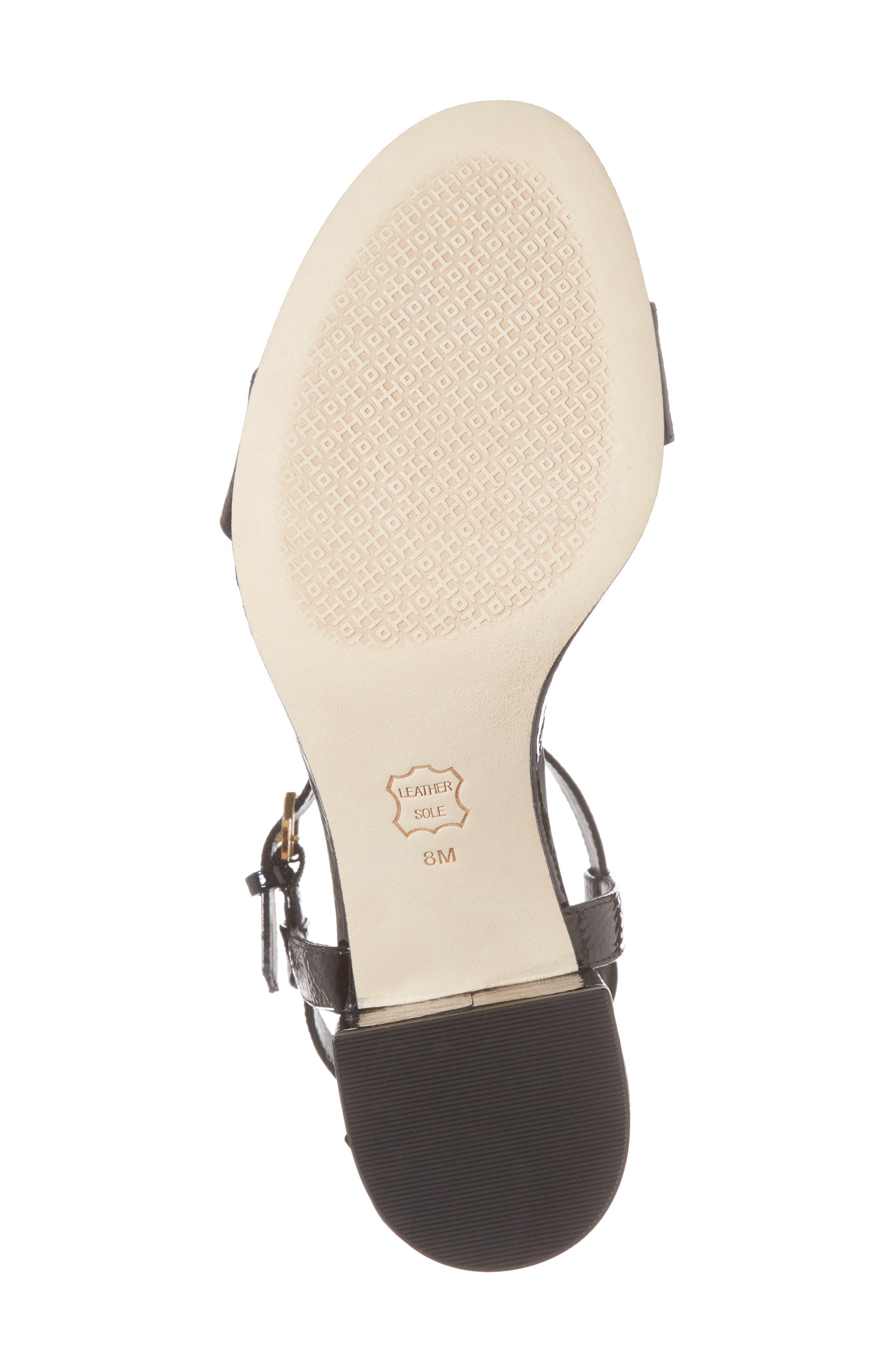 Laurel Ankle Strap Sandal,                             Alternate thumbnail 6, color,                             Black