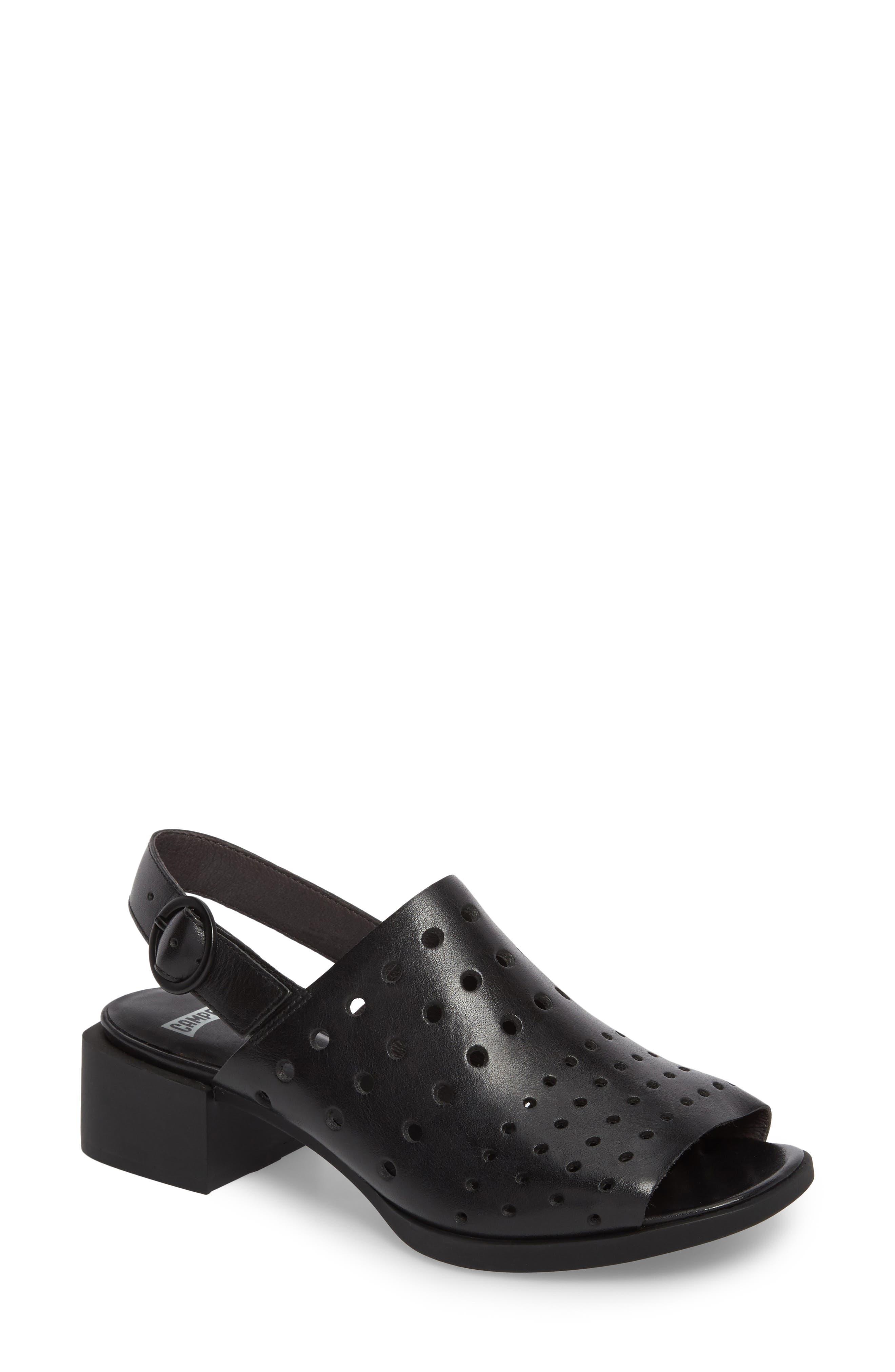 Twins Sandal,                         Main,                         color, Black Leather