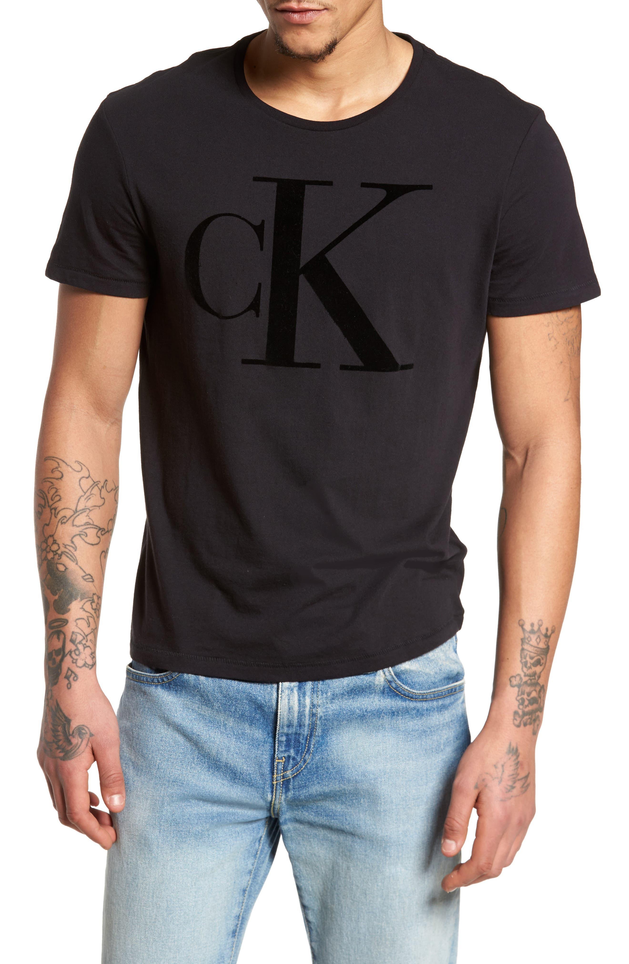 Alternate Image 1 Selected - Calvin Klein Jeans Flocked Logo T-Shirt