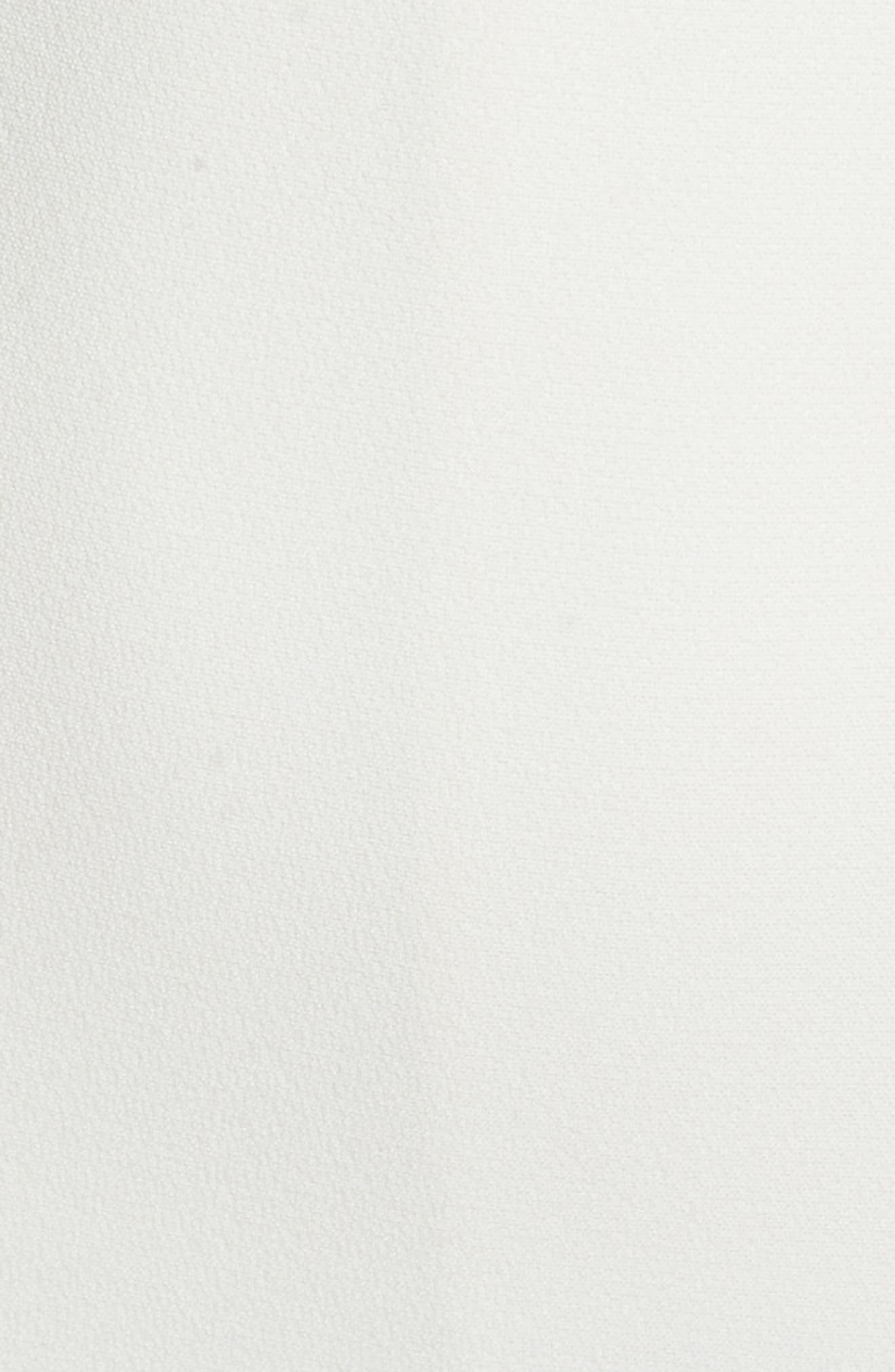 Ruffle Back Sheath Dress,                             Alternate thumbnail 5, color,                             Ivory
