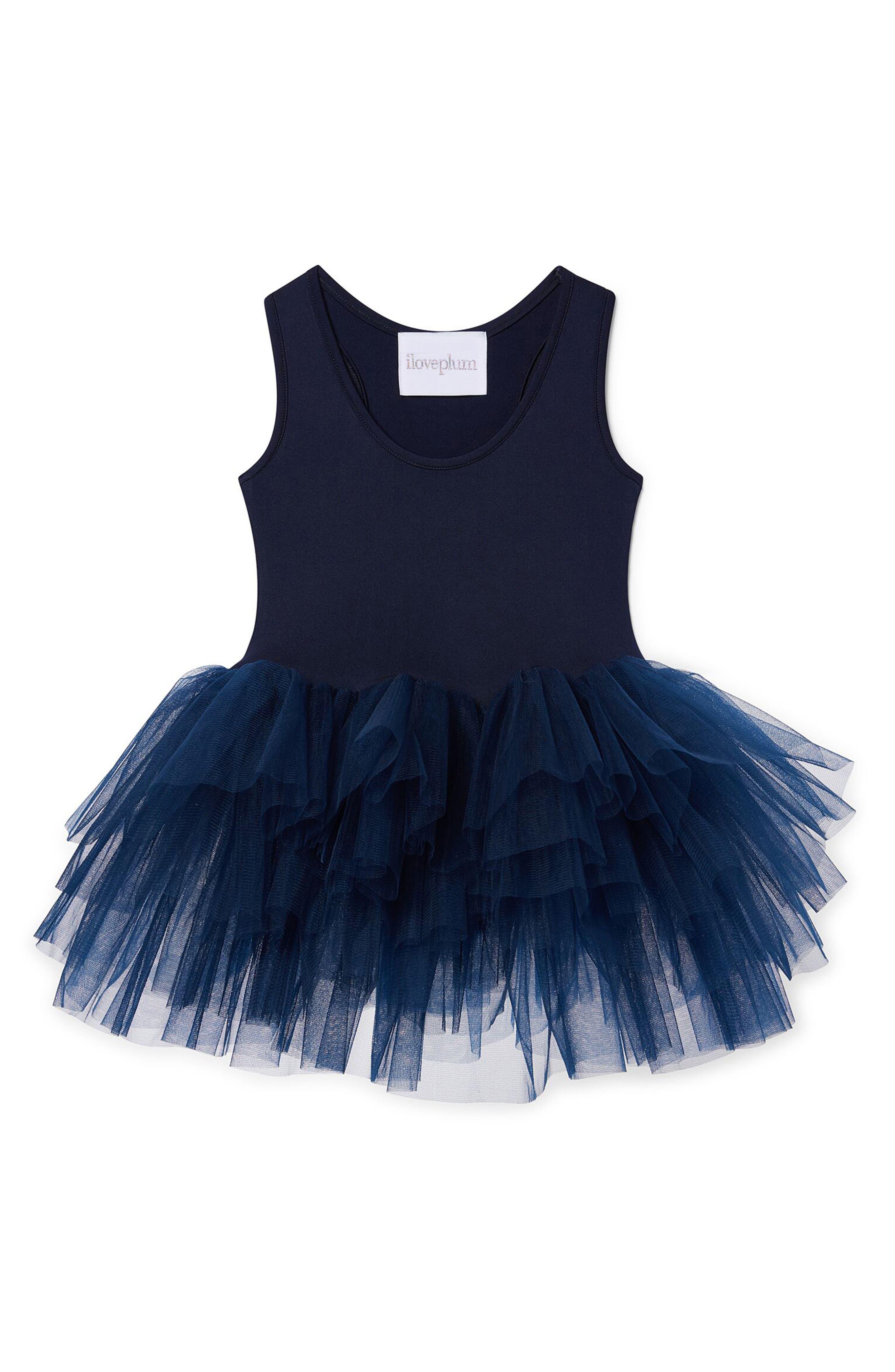 Tutu Dress,                         Main,                         color, Navy Blue