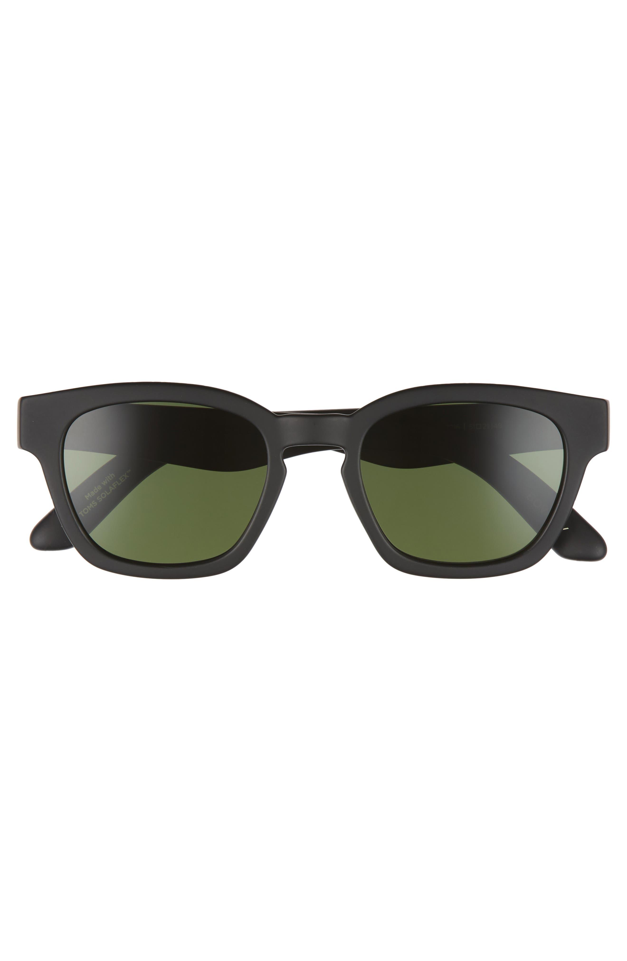 Bowery 51mm Polarized Sunglasses,                             Alternate thumbnail 2, color,                             Matte Black Polar