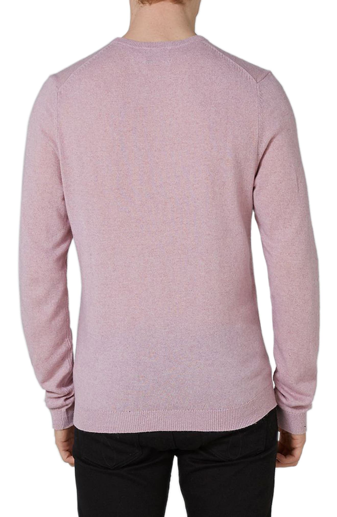 Crewneck Sweater,                             Alternate thumbnail 2, color,                             Pink