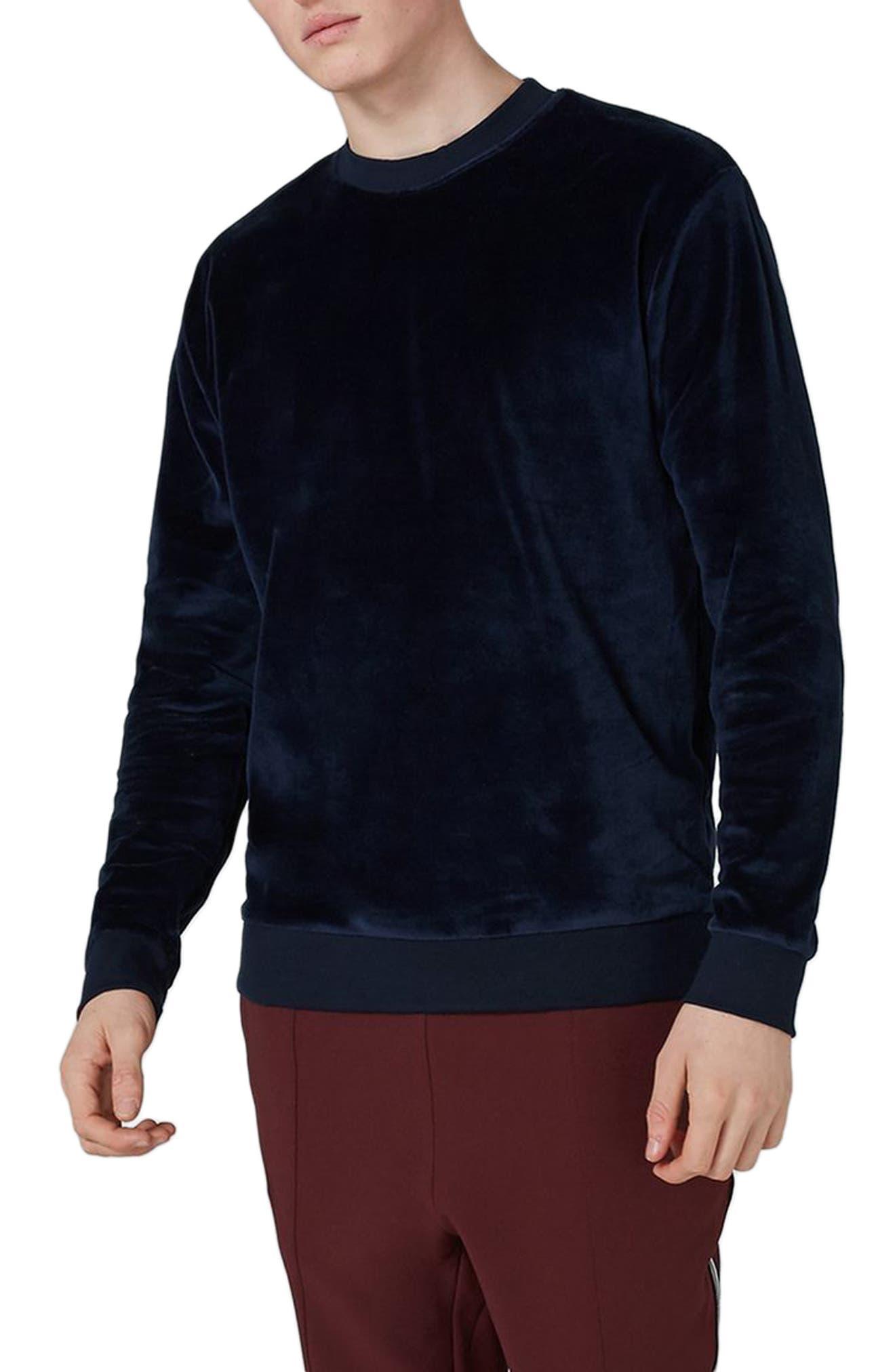 Topman Velour Sweatshirt