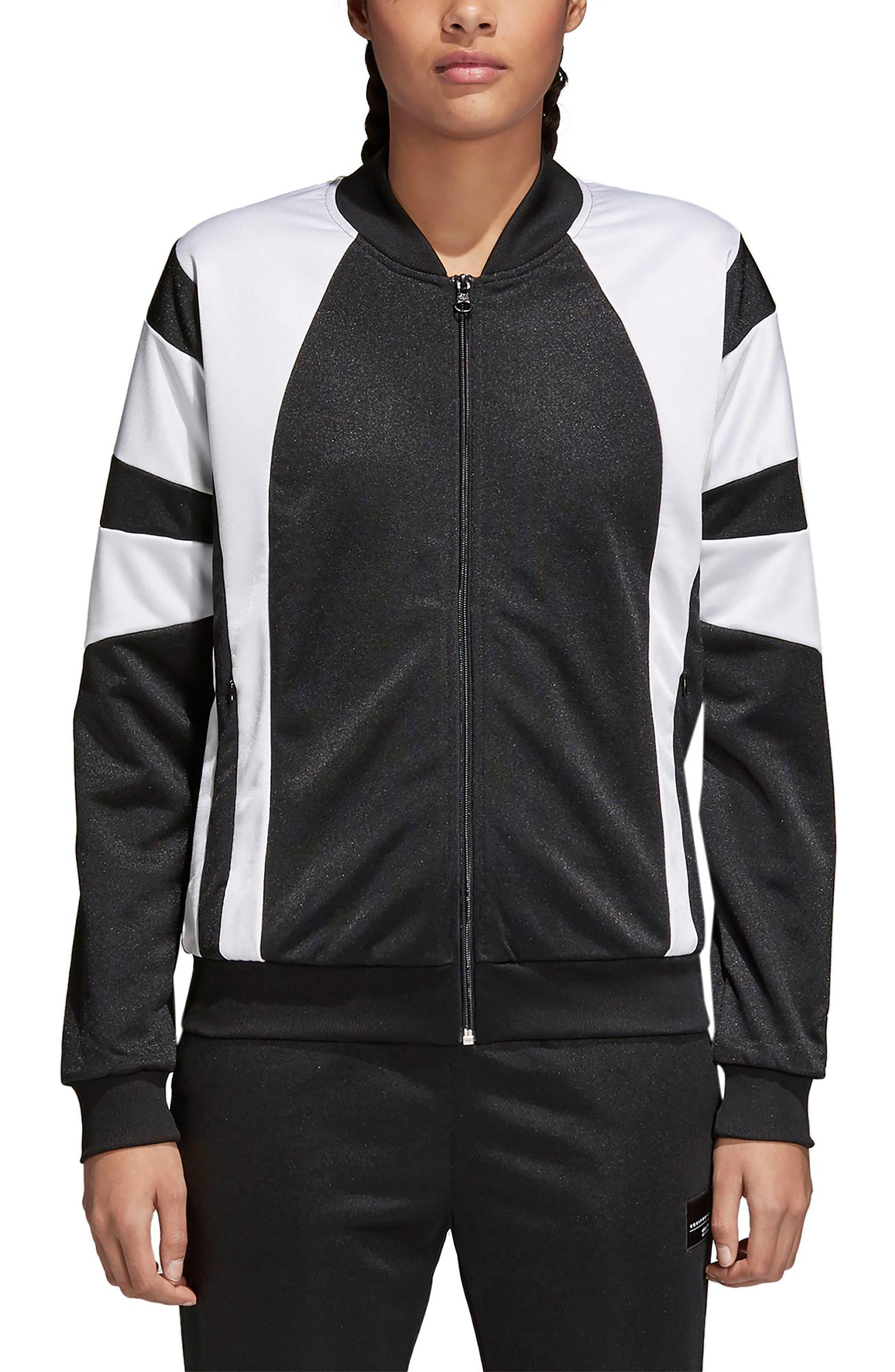 Originals Superstar Track Jacket,                         Main,                         color, Black/ White
