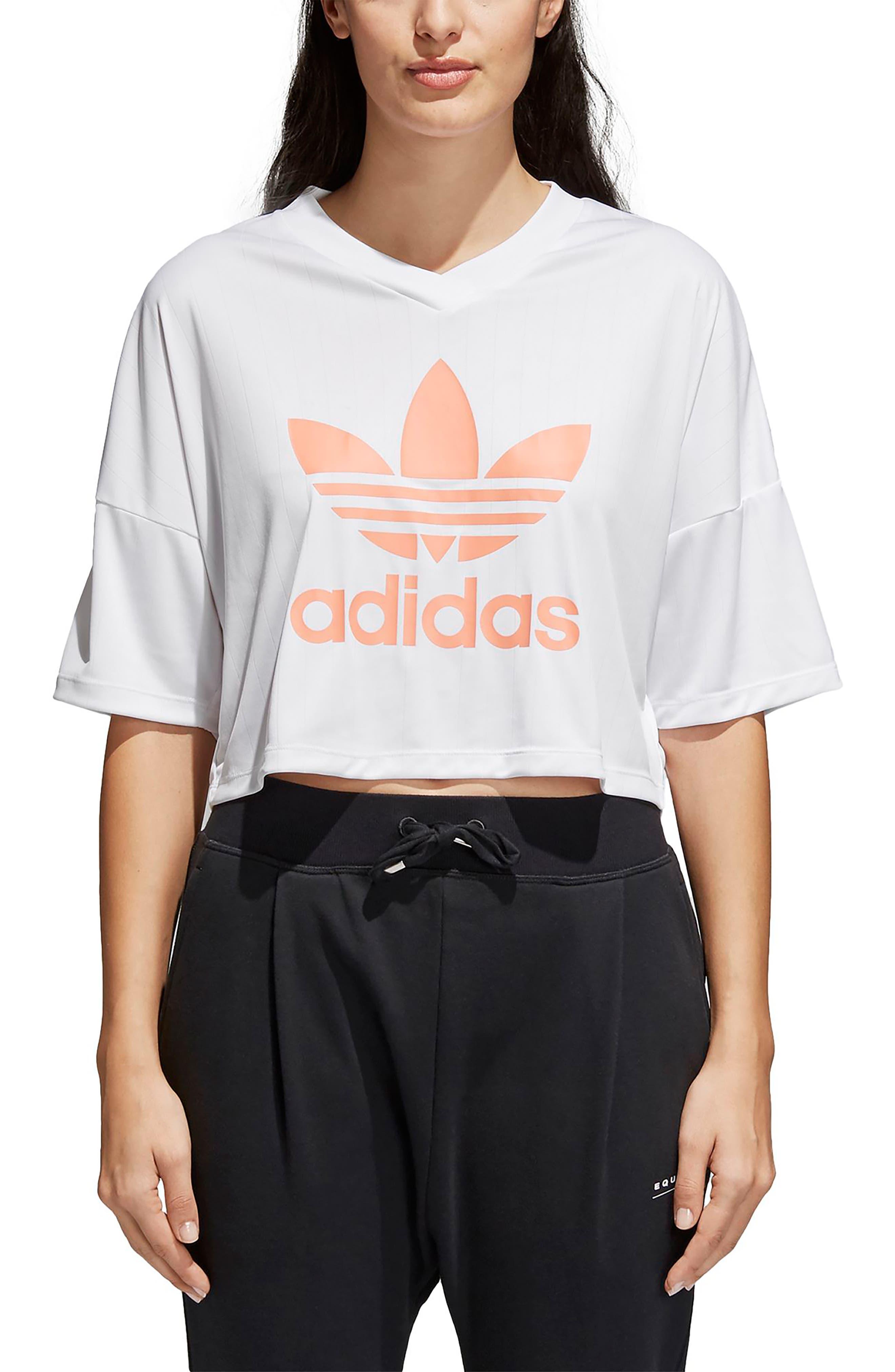 Main Image - adidas Originals Trefoil Crop Tee