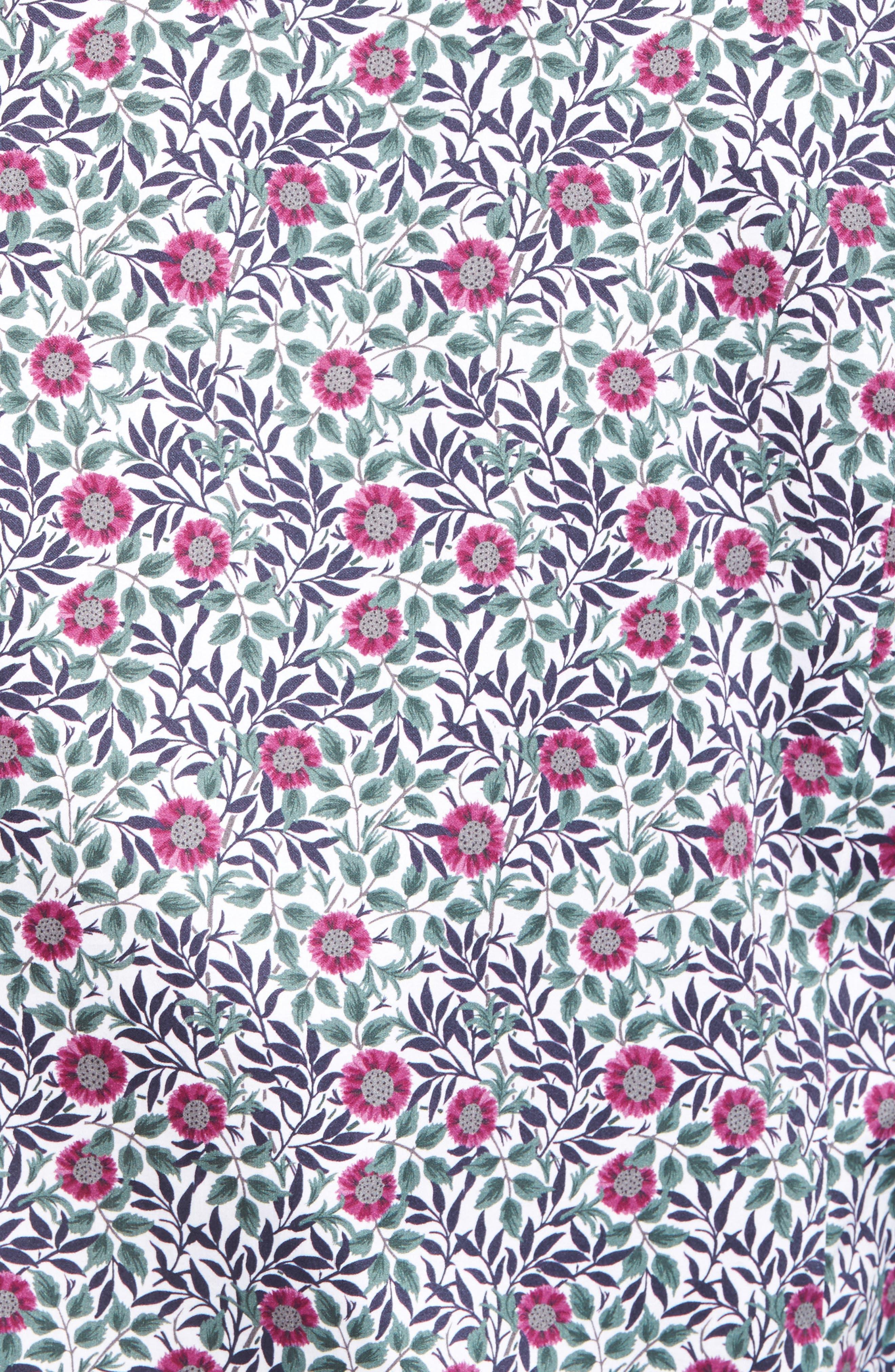 Orense Floral Print Slim Fit Shirt,                             Alternate thumbnail 5, color,                             Green
