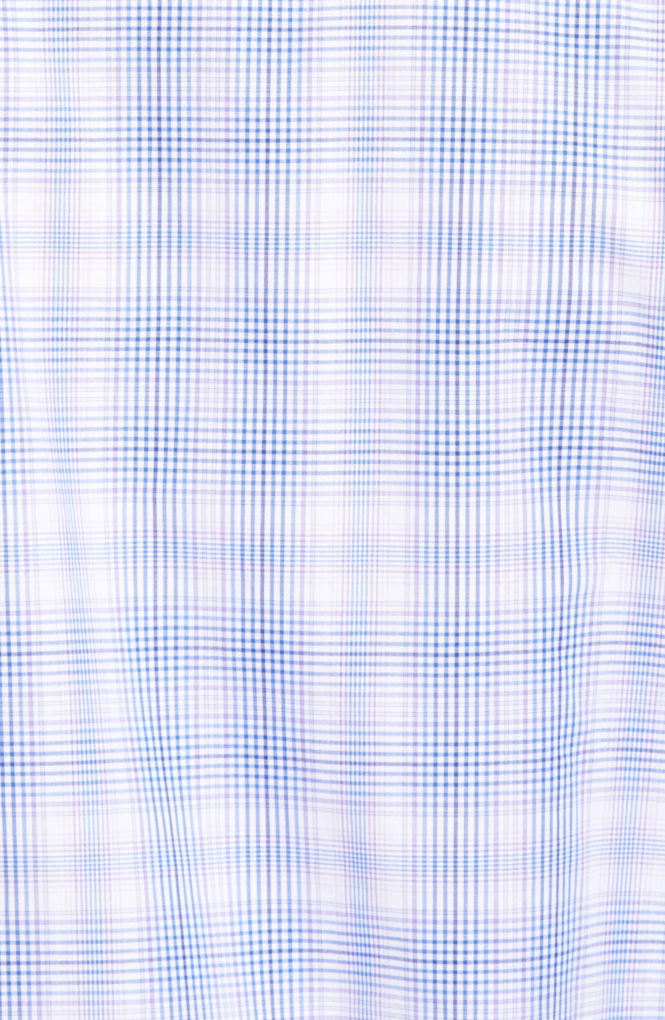 Classic Fit Plaid Sport Shirt,                             Alternate thumbnail 5, color,                             Lilac