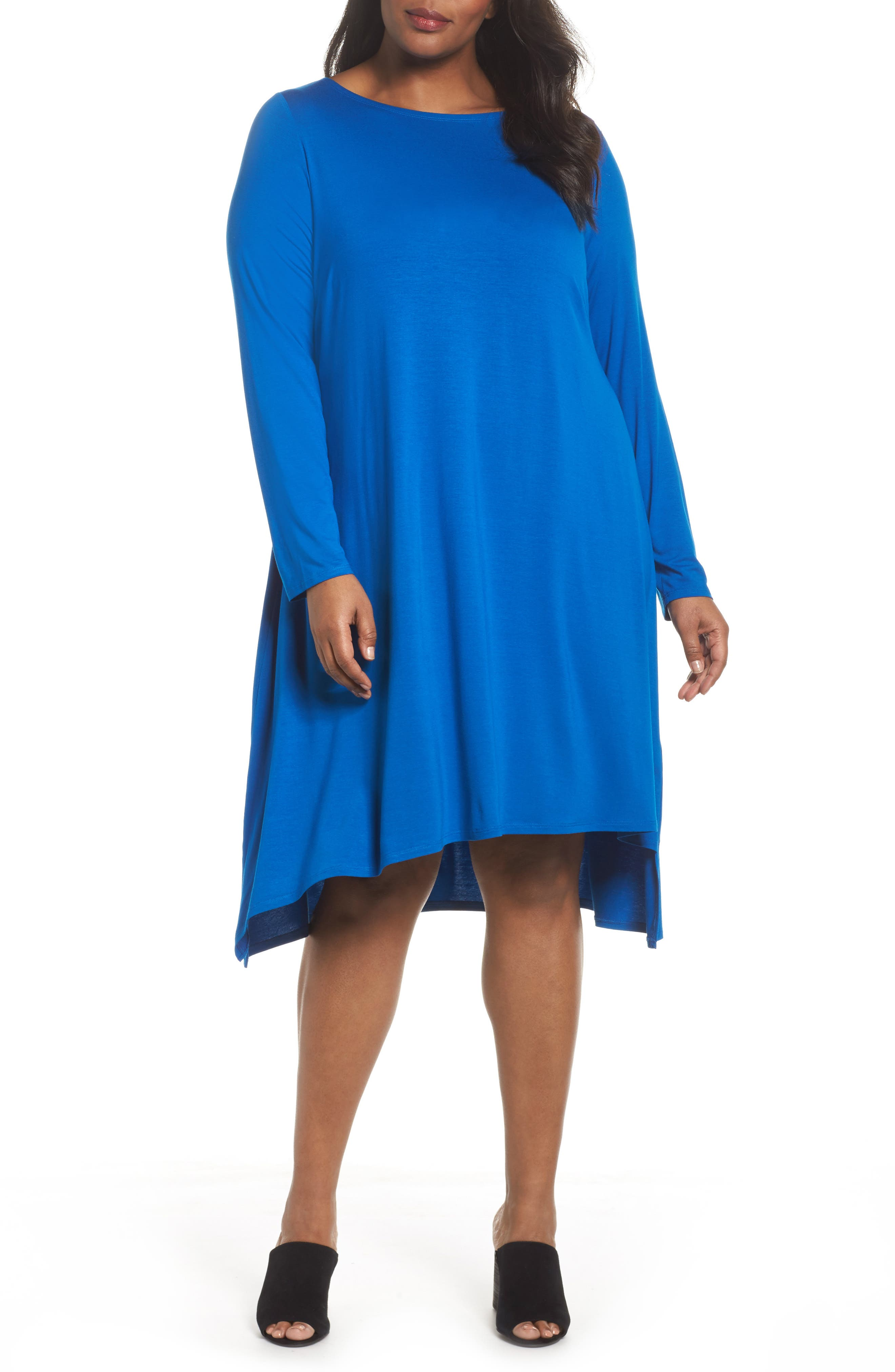 Jersey Tunic Dress,                         Main,                         color, Dark Blue