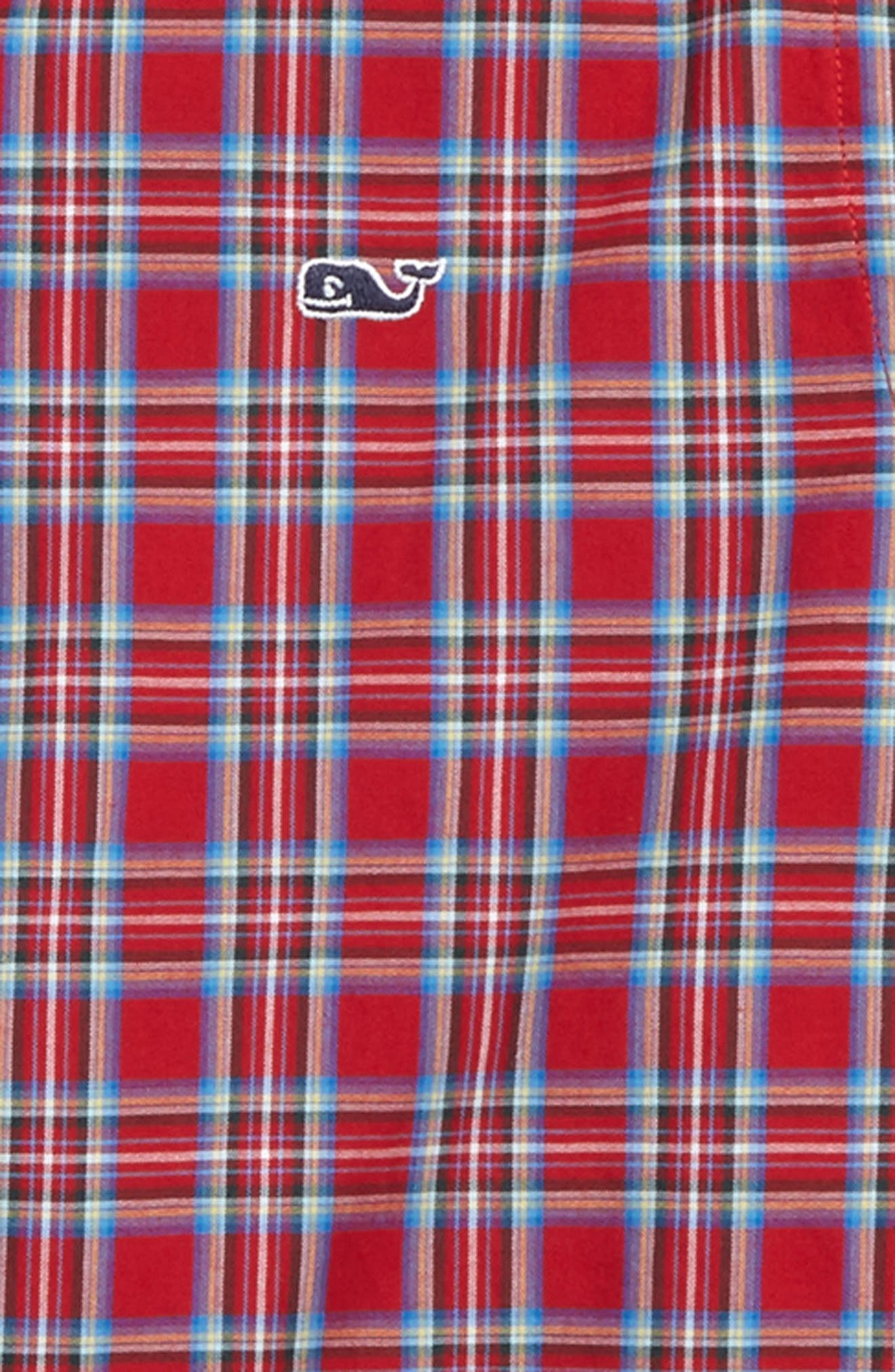 Riverton Plaid Whale Shirt,                             Alternate thumbnail 2, color,                             Tomato Check