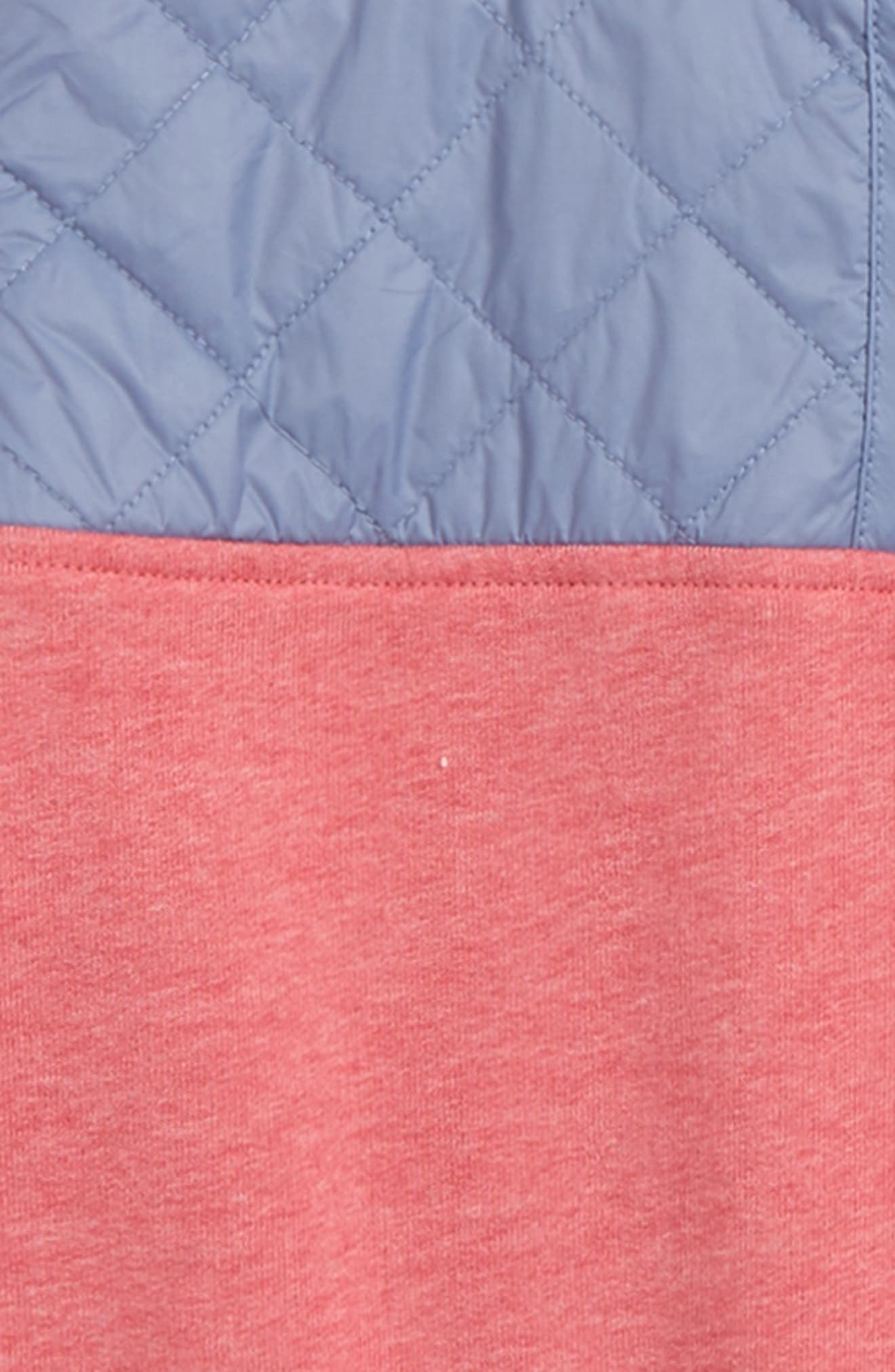 Shep Quilted Quarter Zip Pullover,                             Alternate thumbnail 2, color,                             Jetty Red