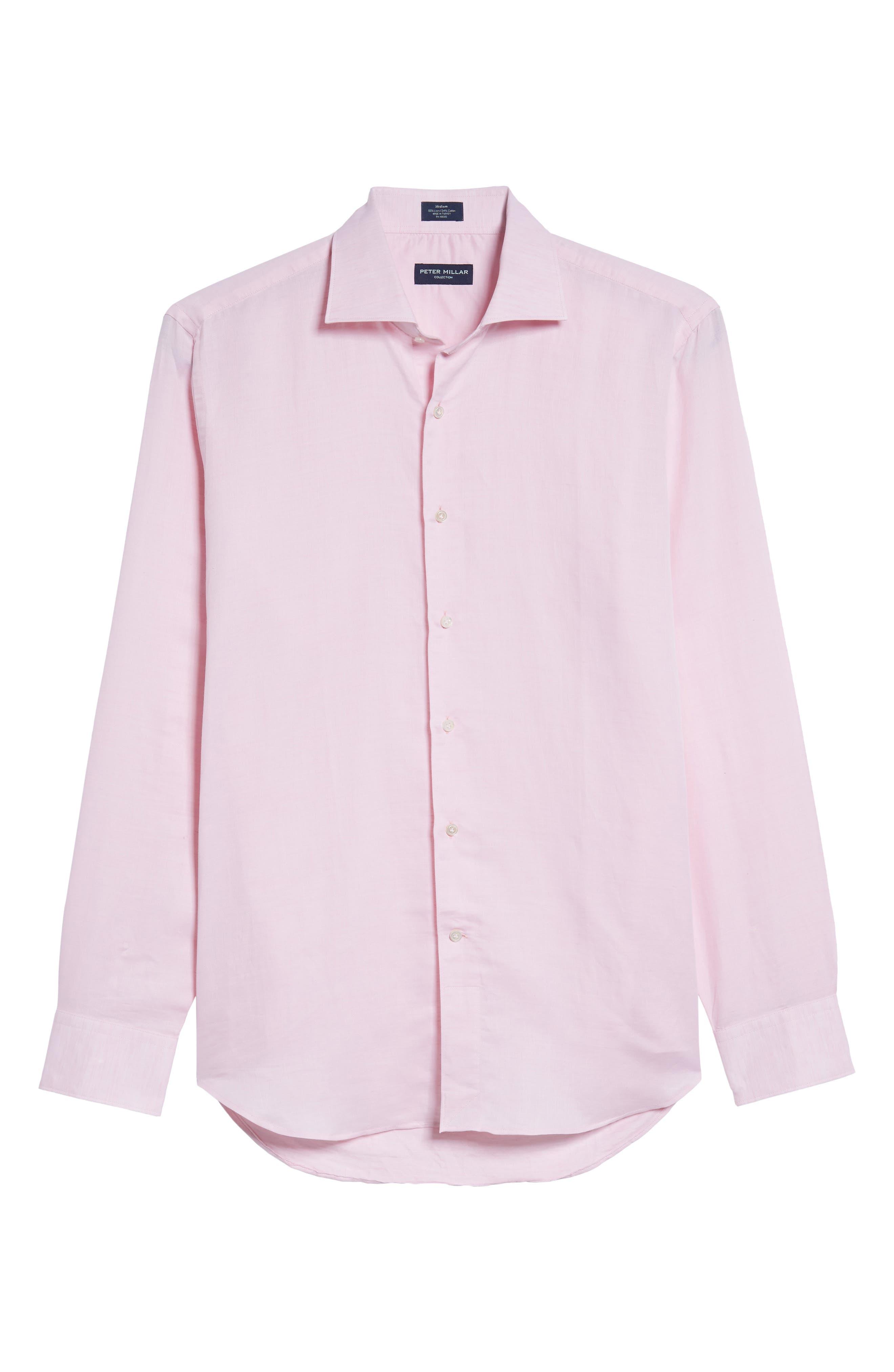 Alternate Image 6  - Peter Millar Collection Linen & Cotton Sport Shirt