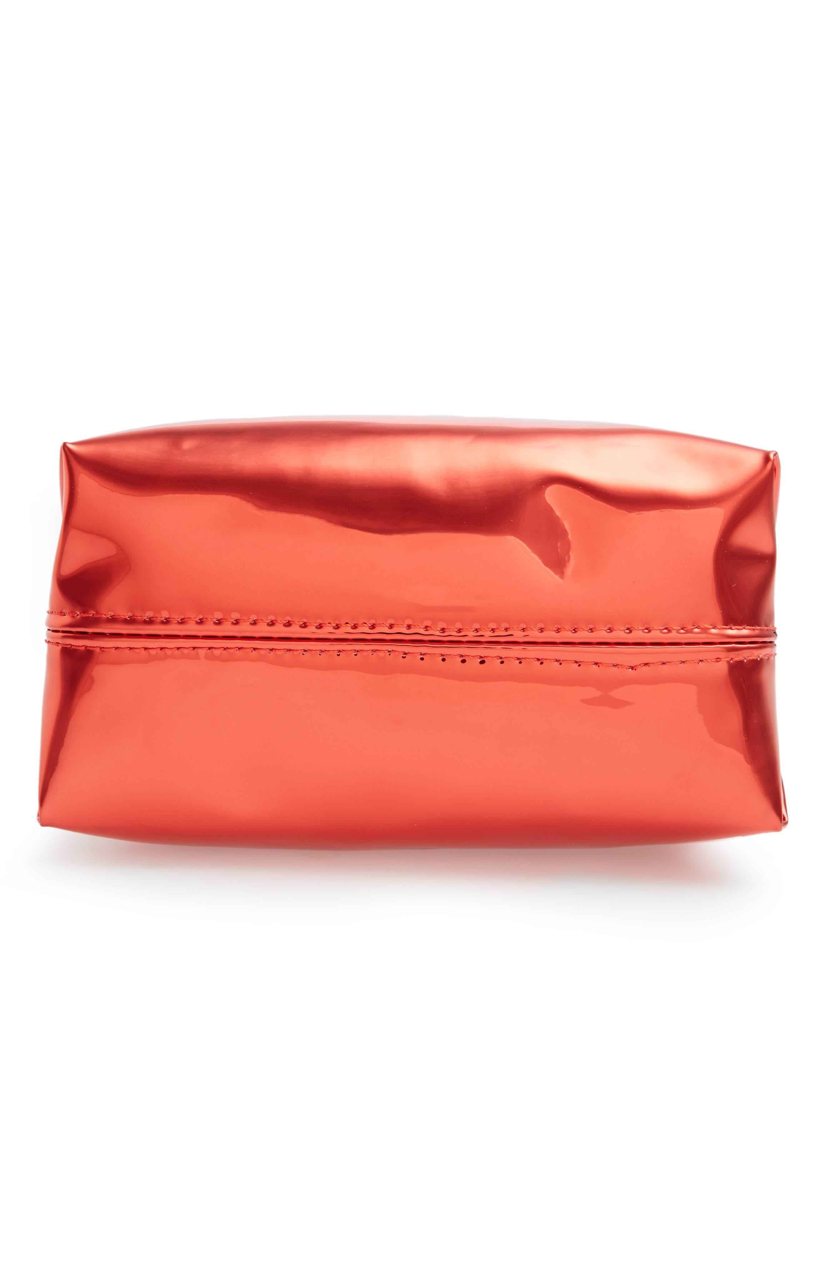 Alternate Image 5  - Yoki Bags Metallic Cosmetics Bag
