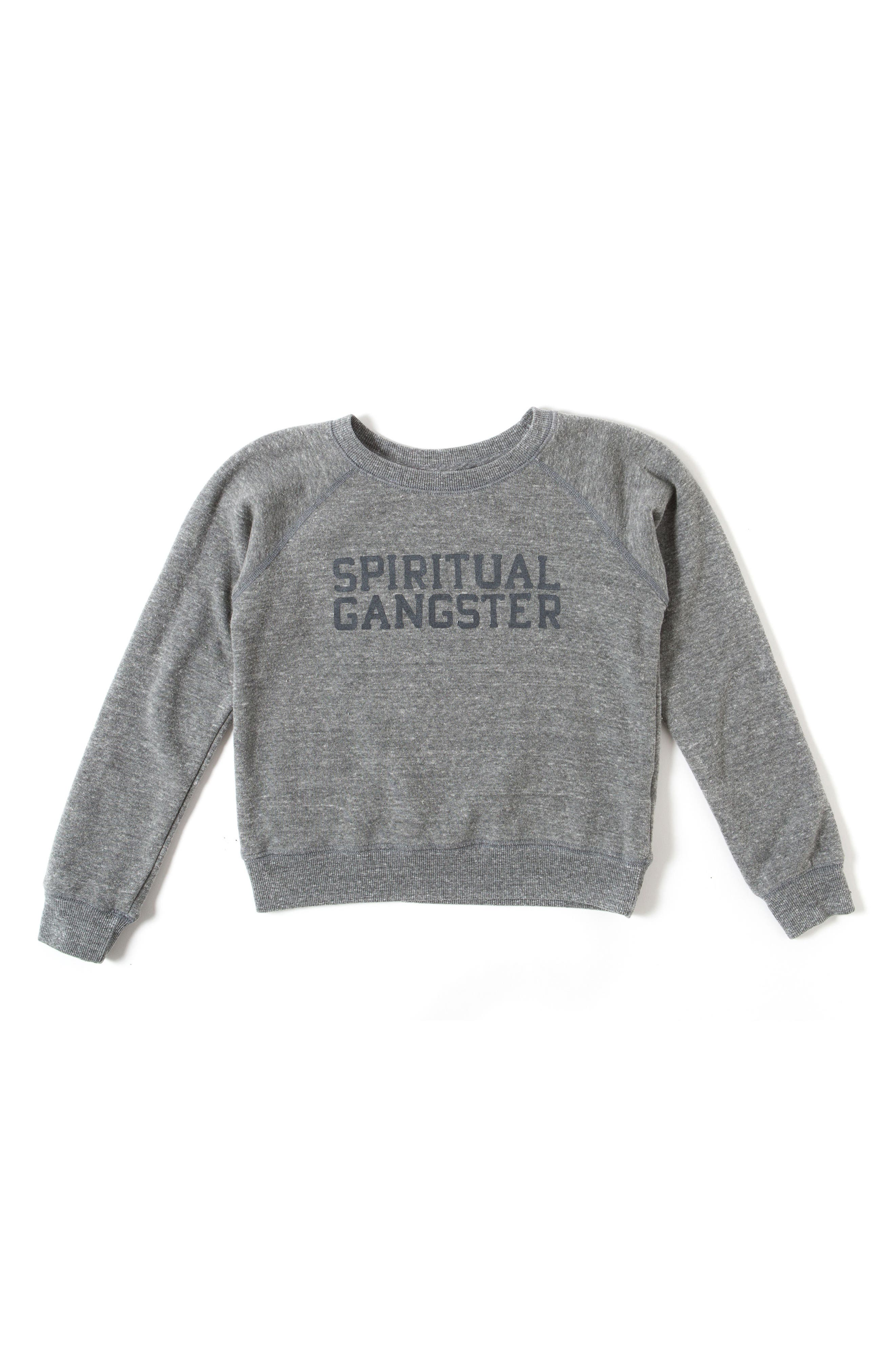 Main Image - Spiritual Gangster Varsity Logo Sweatshirt (Big Boys)