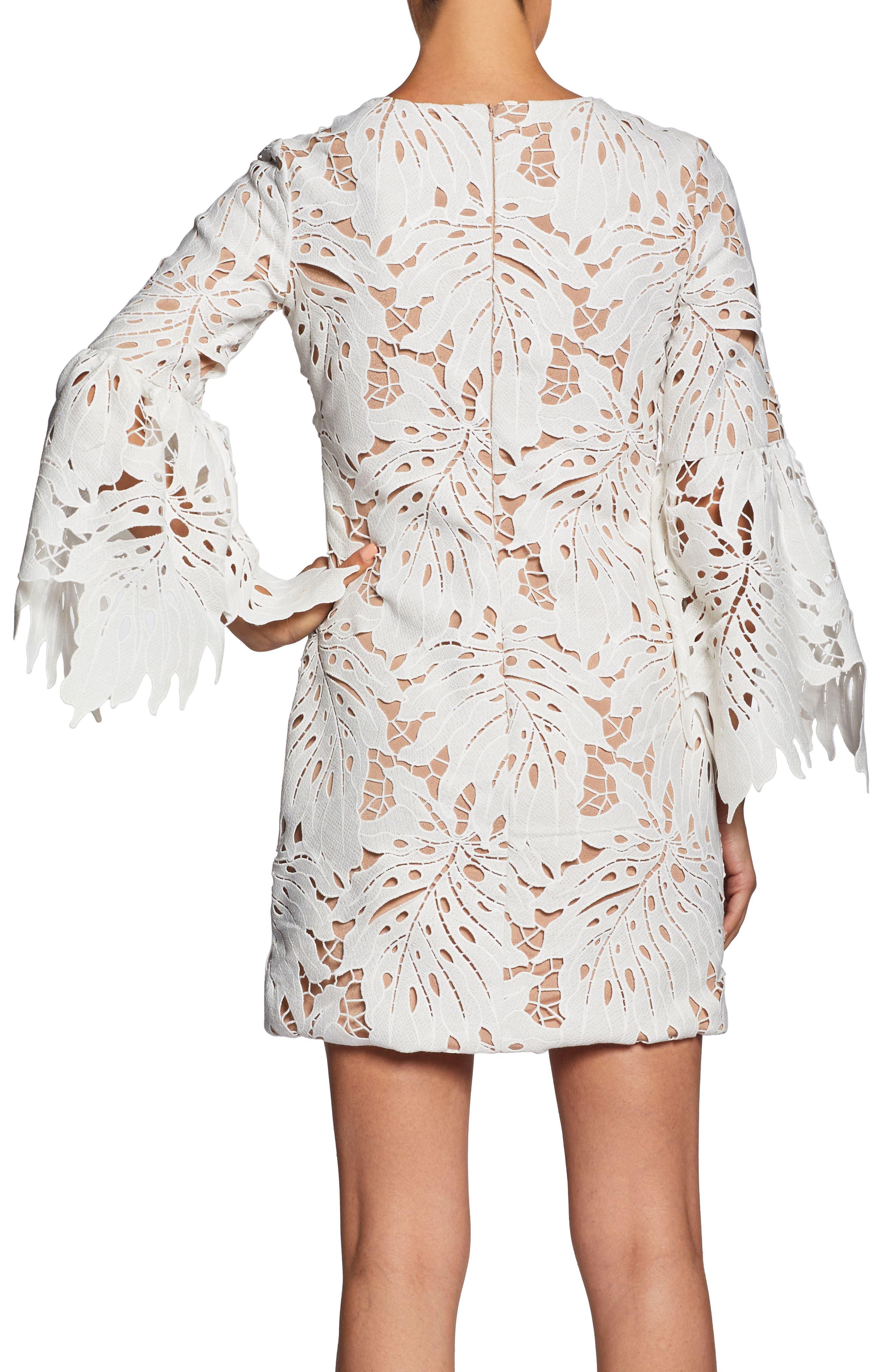 Alternate Image 3  - Dress the Population Dylan Crochet Shift Dress