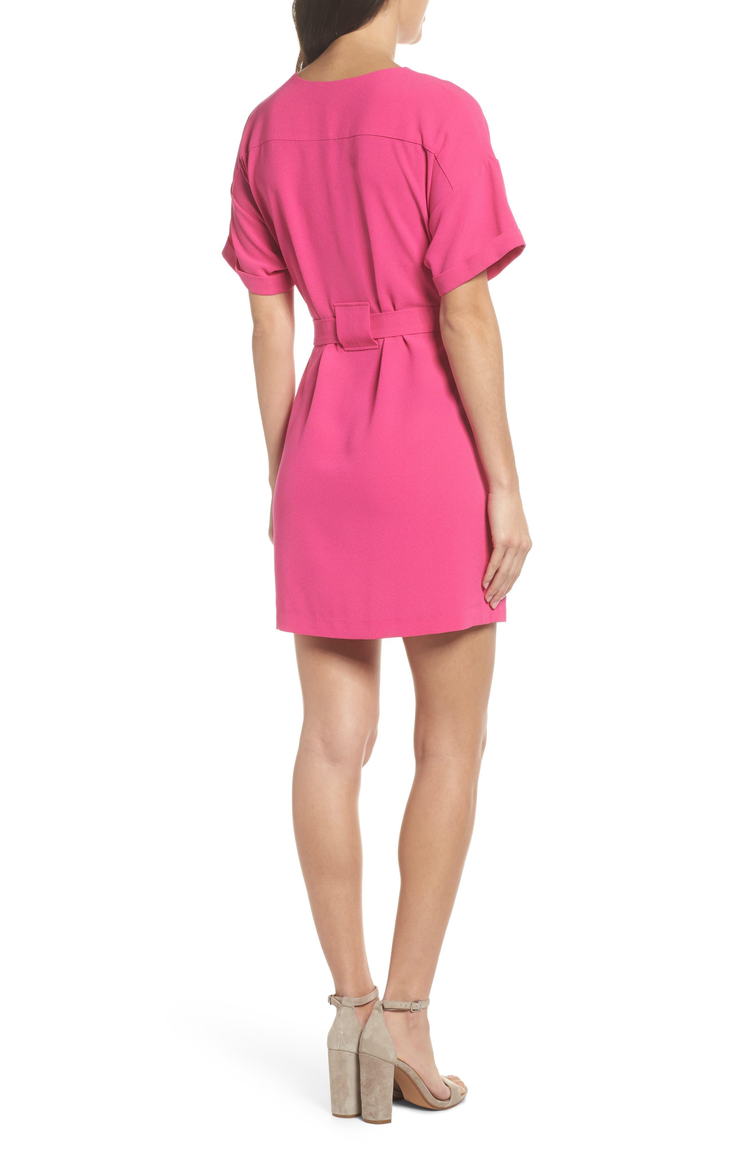 Halia Tie Waist Dress,                             Alternate thumbnail 2, color,                             Pink