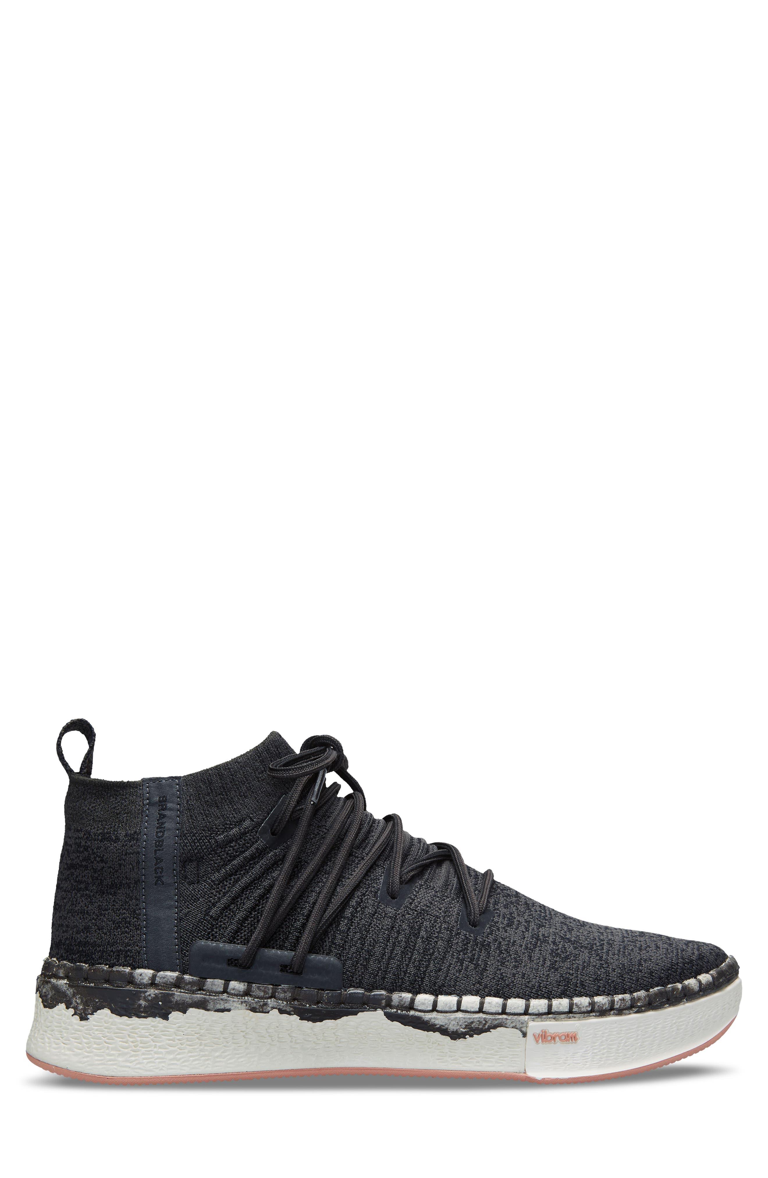Delta Shibori Sneaker,                             Alternate thumbnail 3, color,                             Black