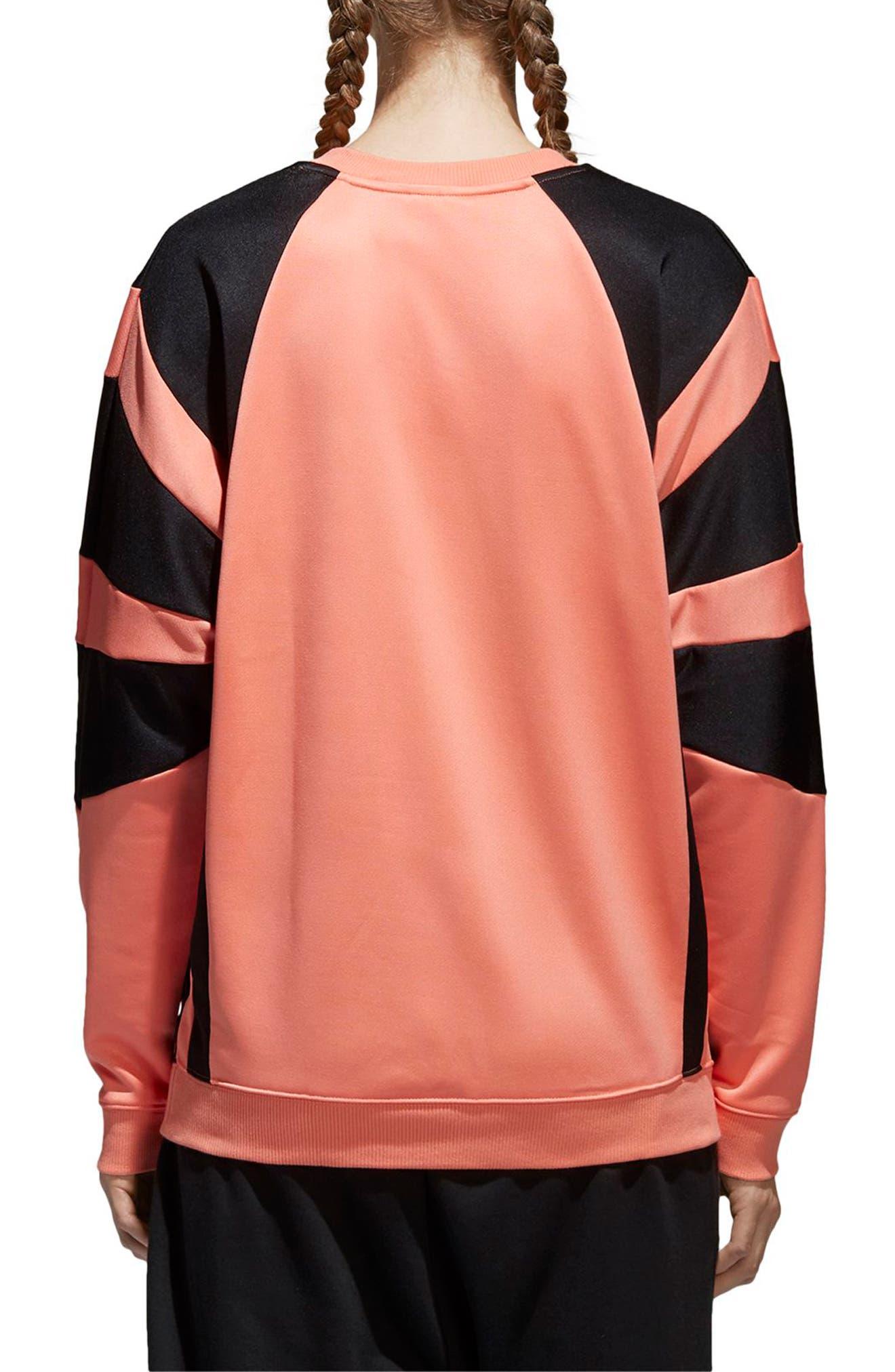 EQT Sweatshirt,                             Alternate thumbnail 2, color,                             Chalk Coral