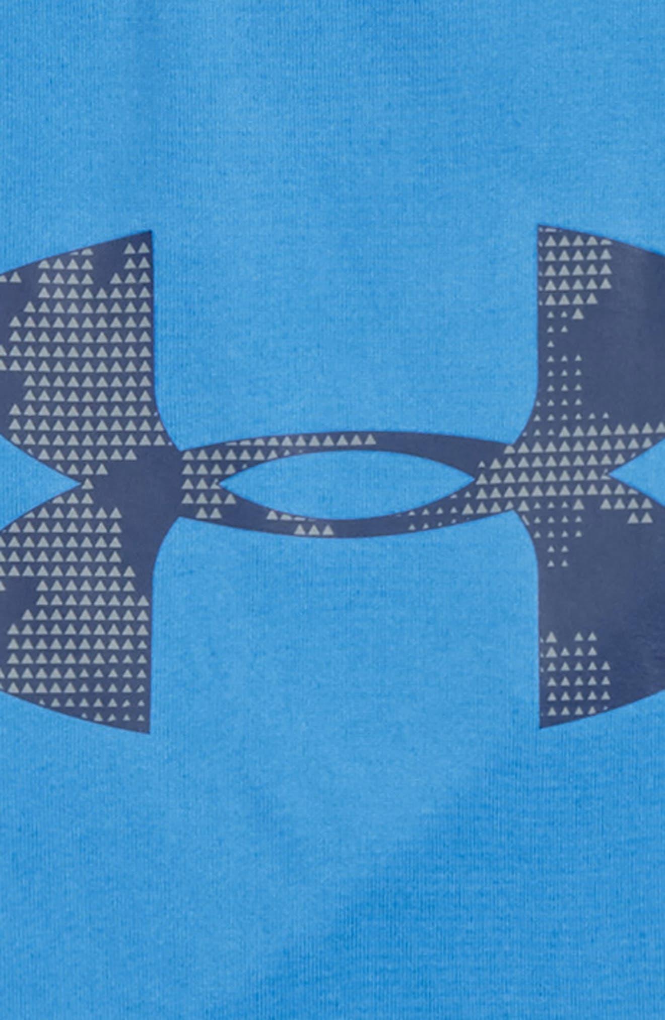 Alternate Image 2  - Under Armour Camo Big Logo HeatGear® T-Shirt (Toddler Boys & Little Boys)