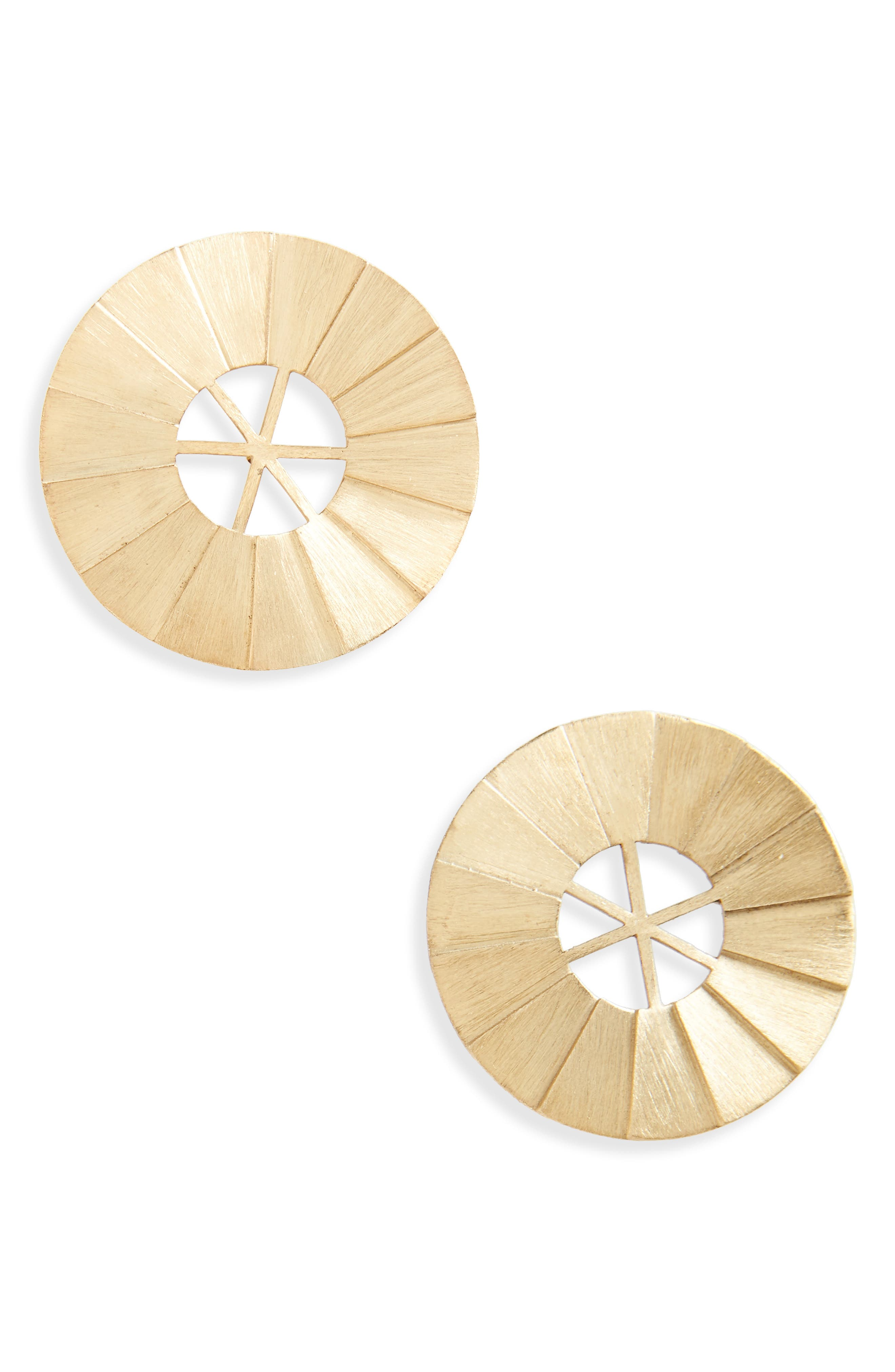 Windmill Brushed Vermeil Statement Earrings,                         Main,                         color, Brushed Vermeil