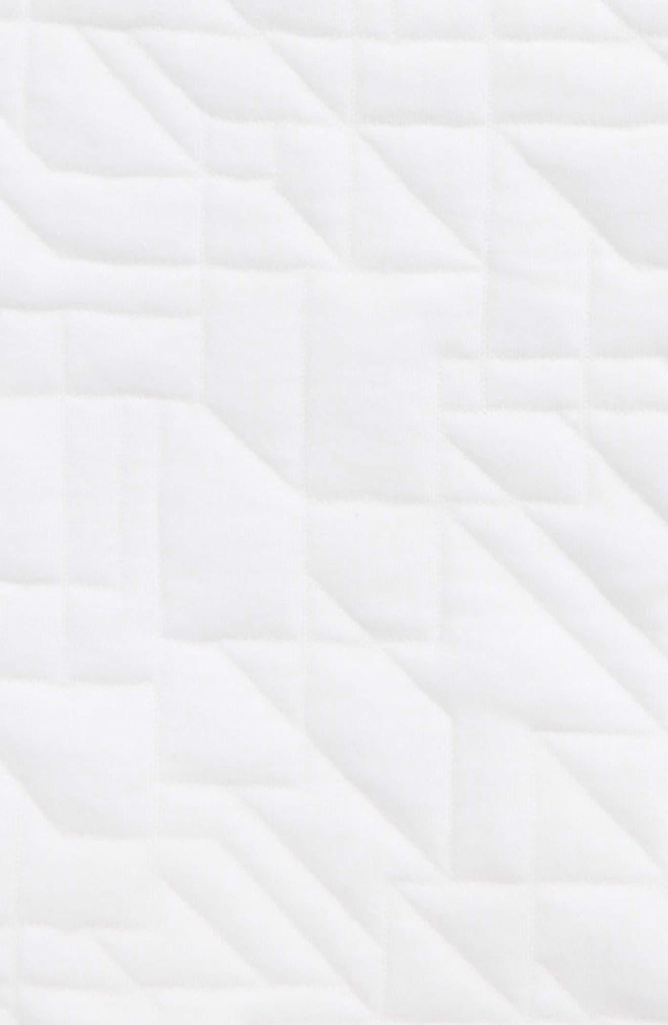 Modern Matelassé Sweatshirt,                             Alternate thumbnail 3, color,                             White/ Black