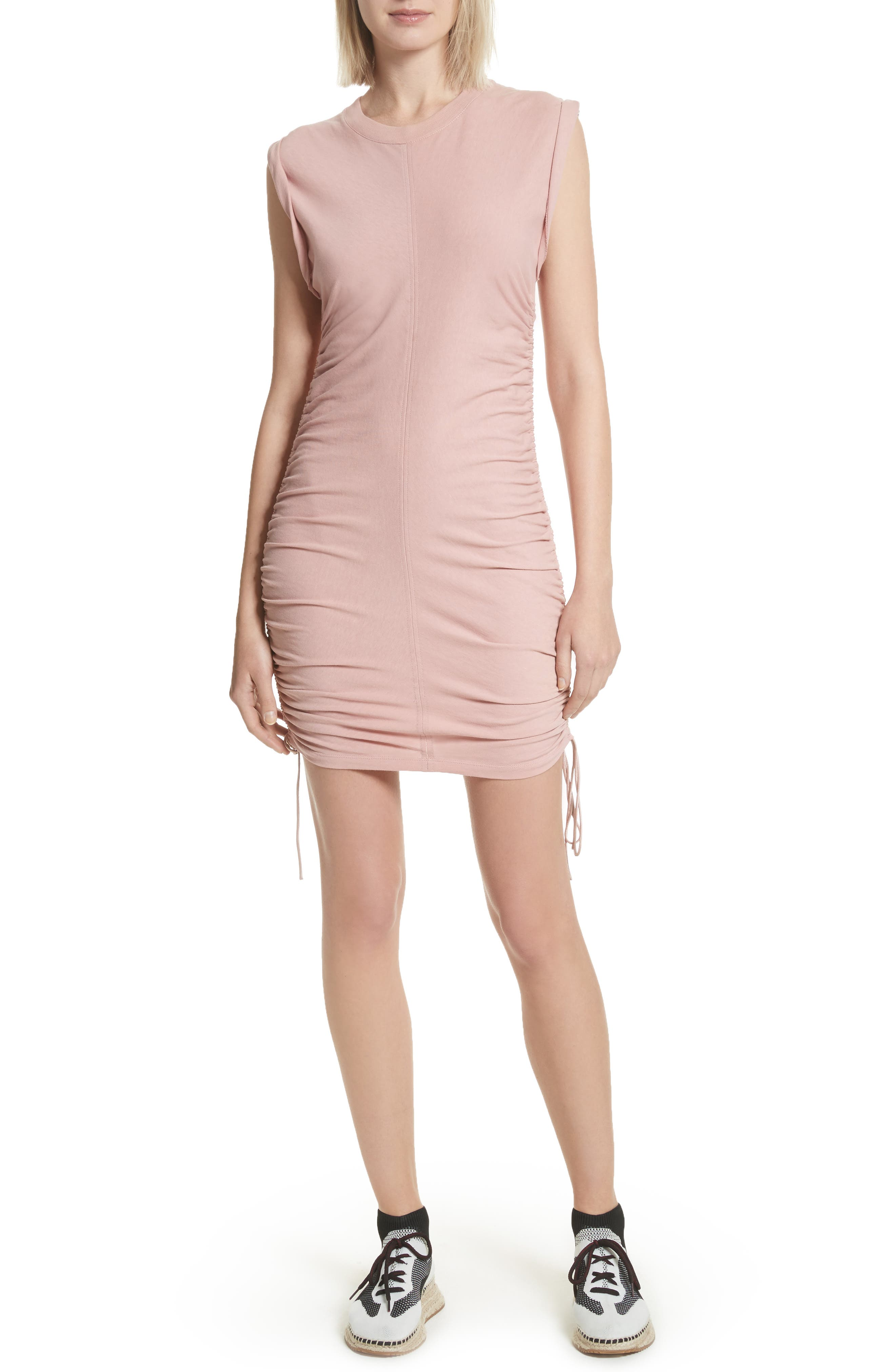 Alternate Image 1 Selected - T by Alexander Wang Ruched Jersey Minidress