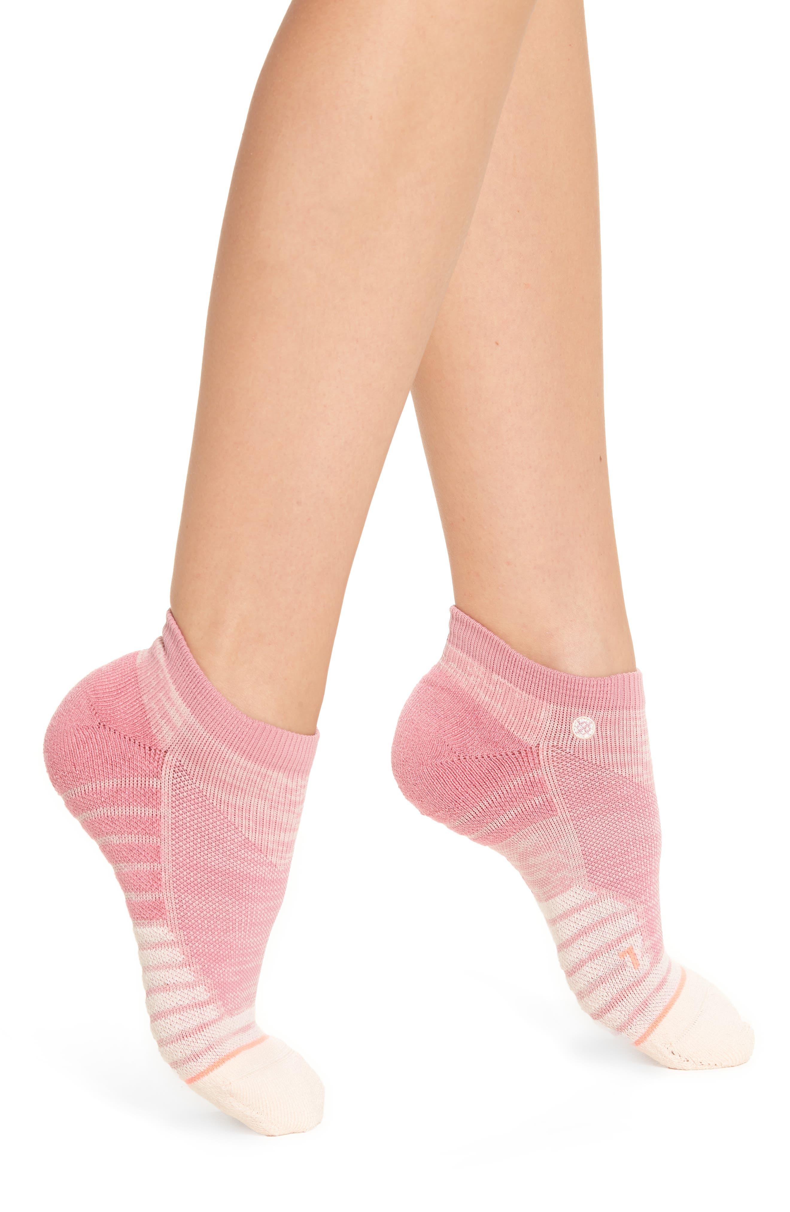 Circuit Athletic Low Cut Socks,                         Main,                         color, Pink
