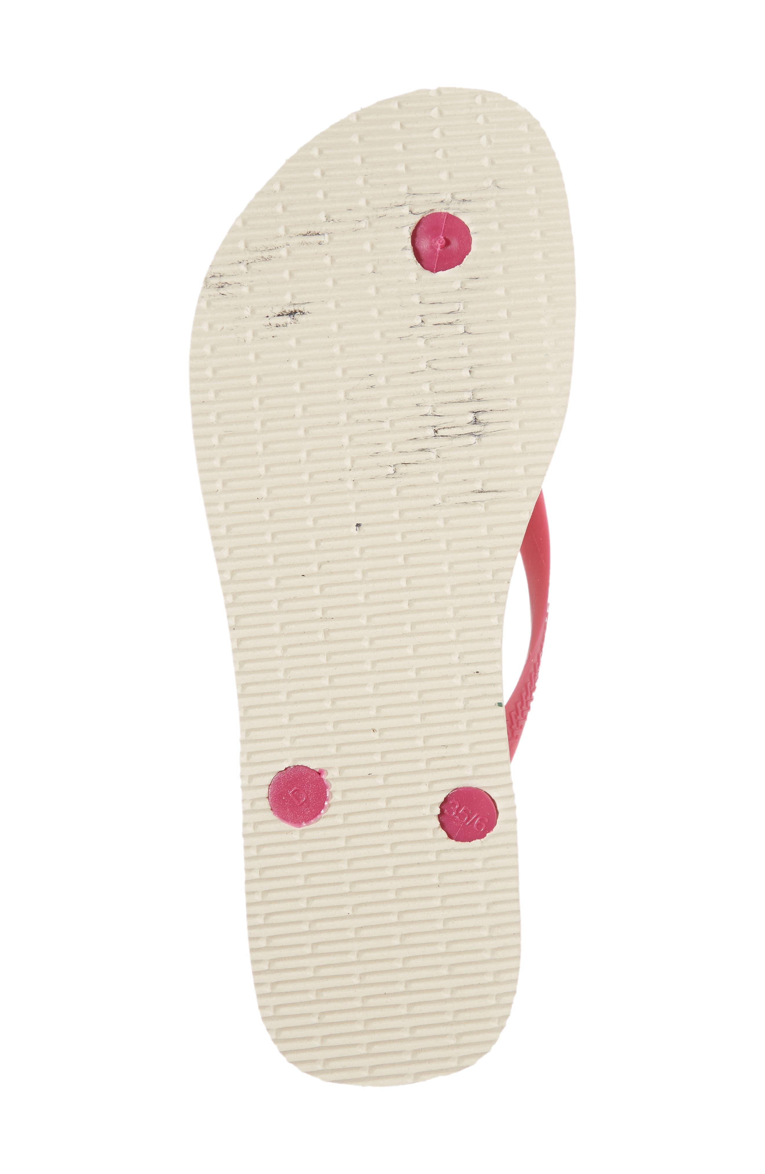 Havaiana Slim - Disney Princess Flip Flop,                             Alternate thumbnail 5, color,                             Beige/ Pink