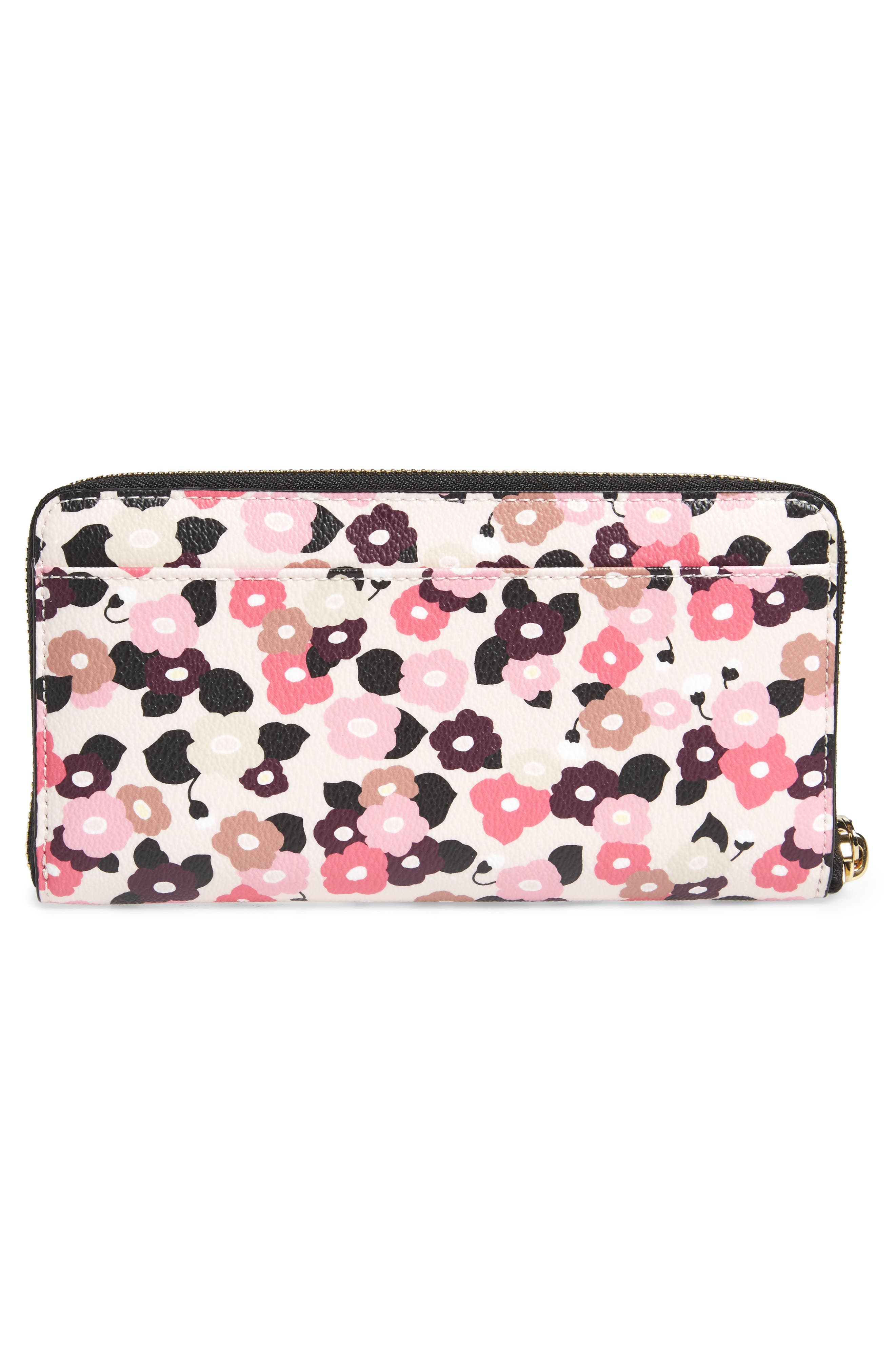 Alternate Image 4  - kate spade new york hyde lane michele floral faux leather wallet