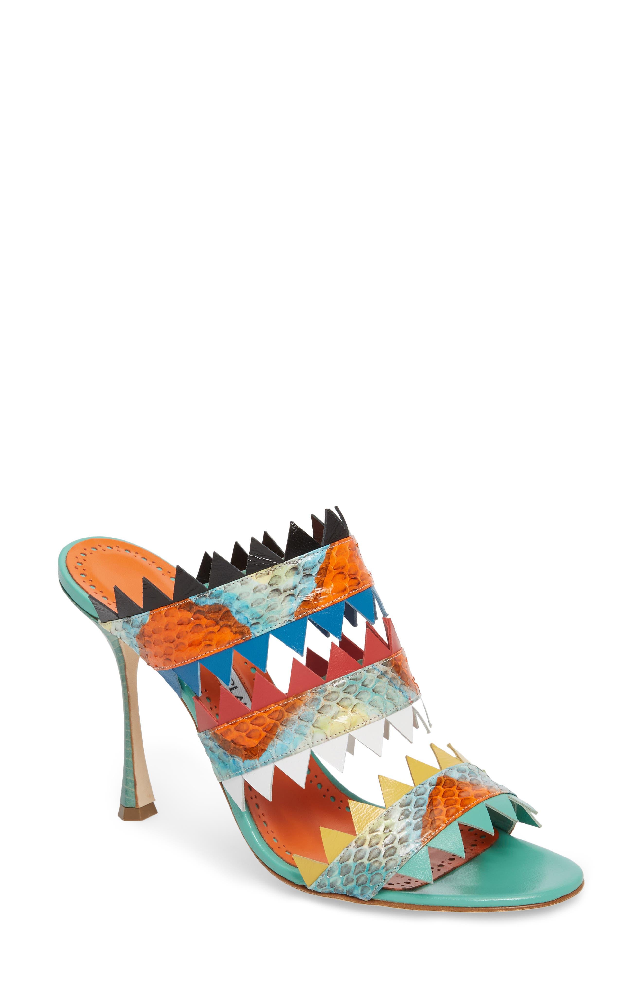 Arpege Mule Sandal,                         Main,                         color, Watersnake Multi