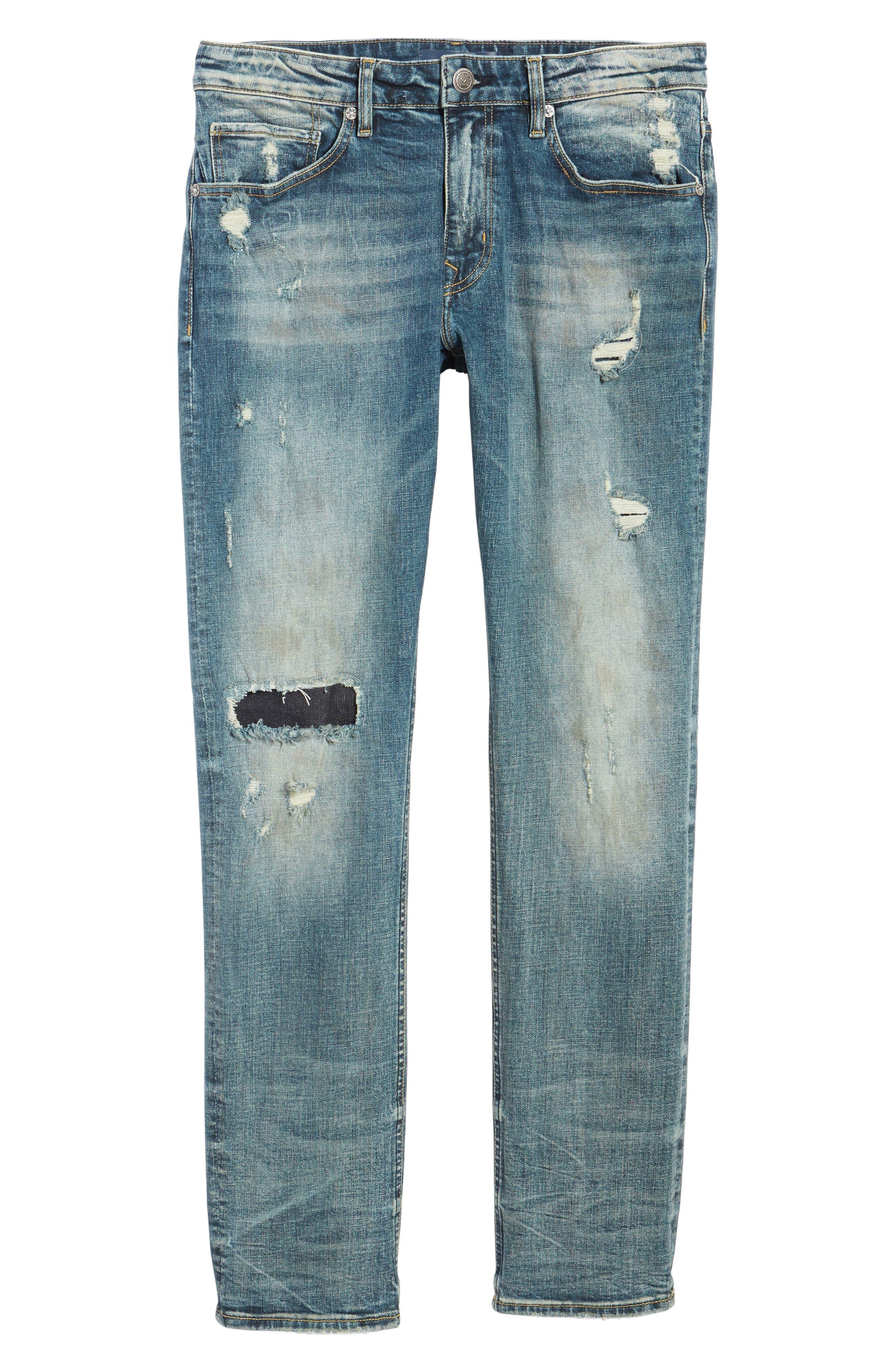 Slim Straight Leg Jeans,                             Alternate thumbnail 6, color,                             Tint Light