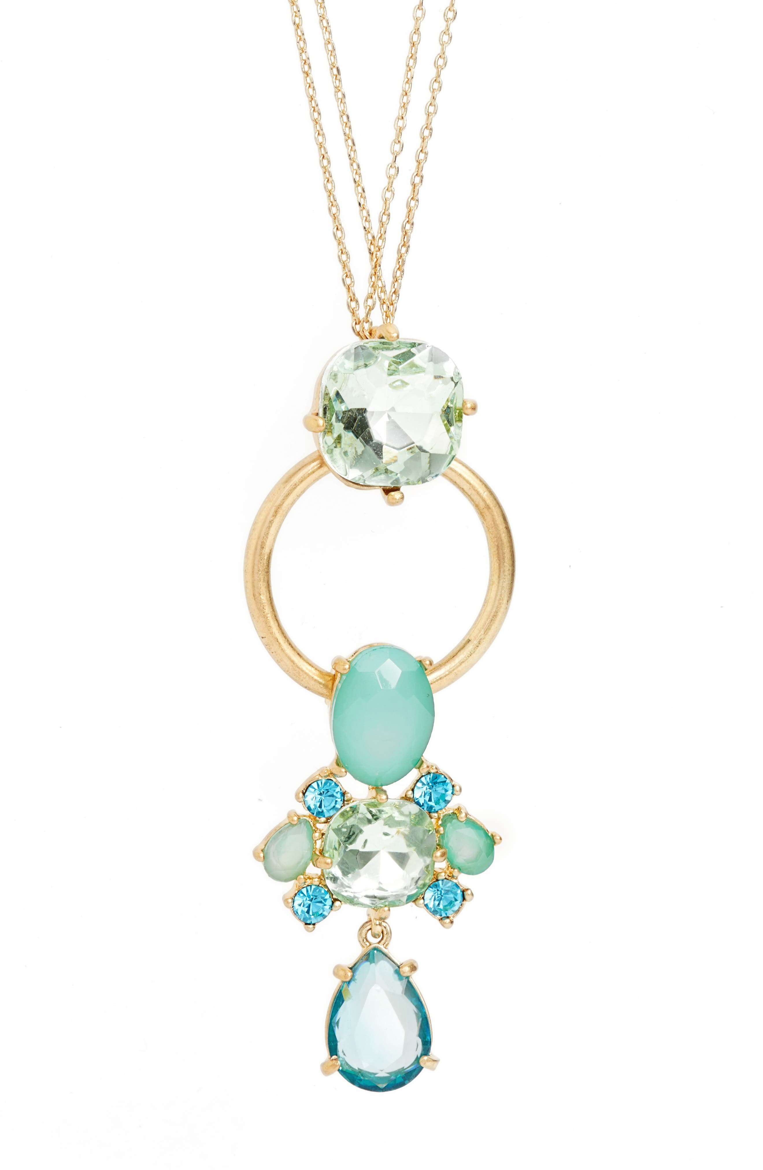 Alternate Image 2  - Halogen® Jewel Pendant Necklace