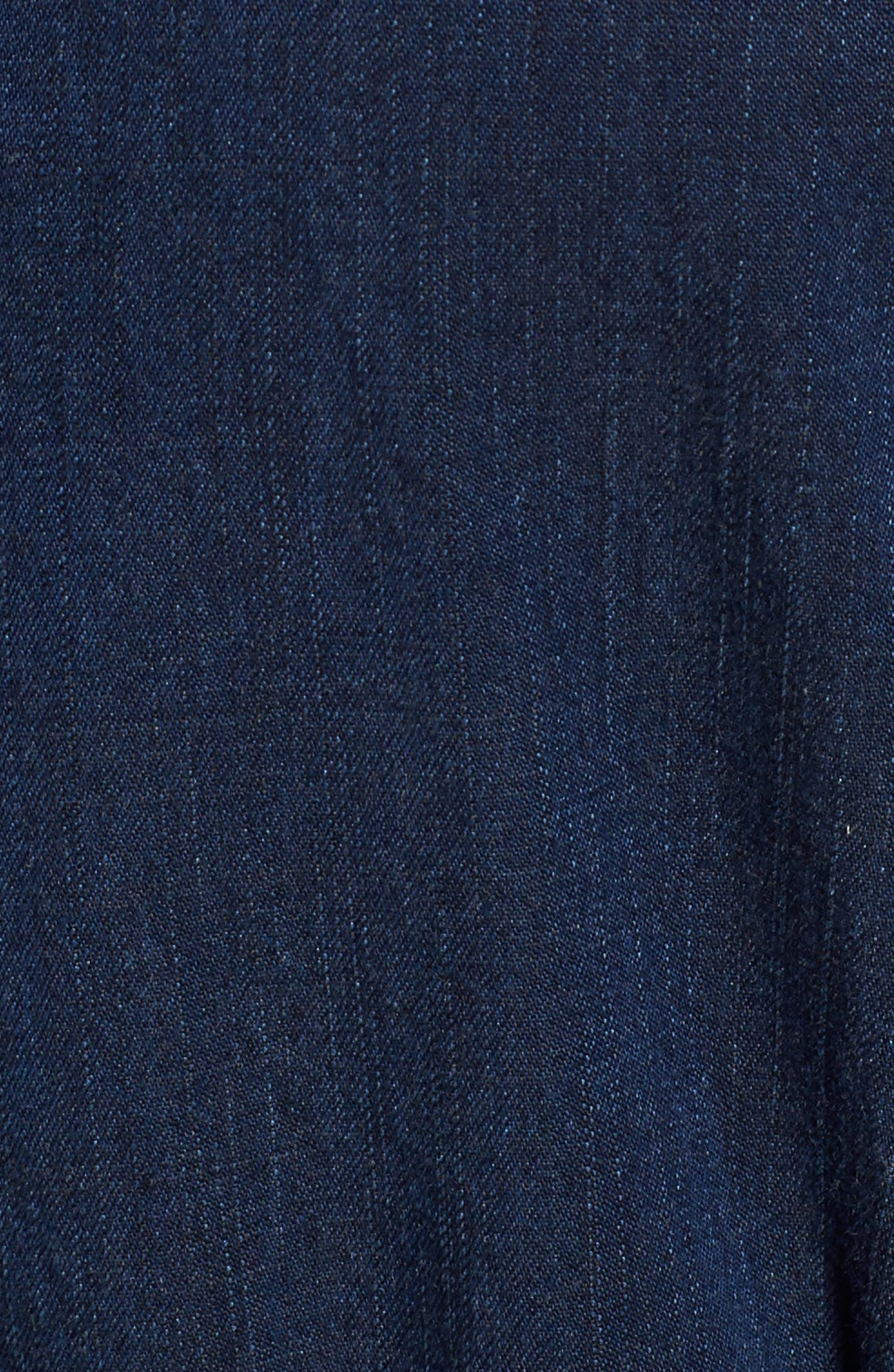 Denim Shirtdress,                             Alternate thumbnail 5, color,                             Midnight