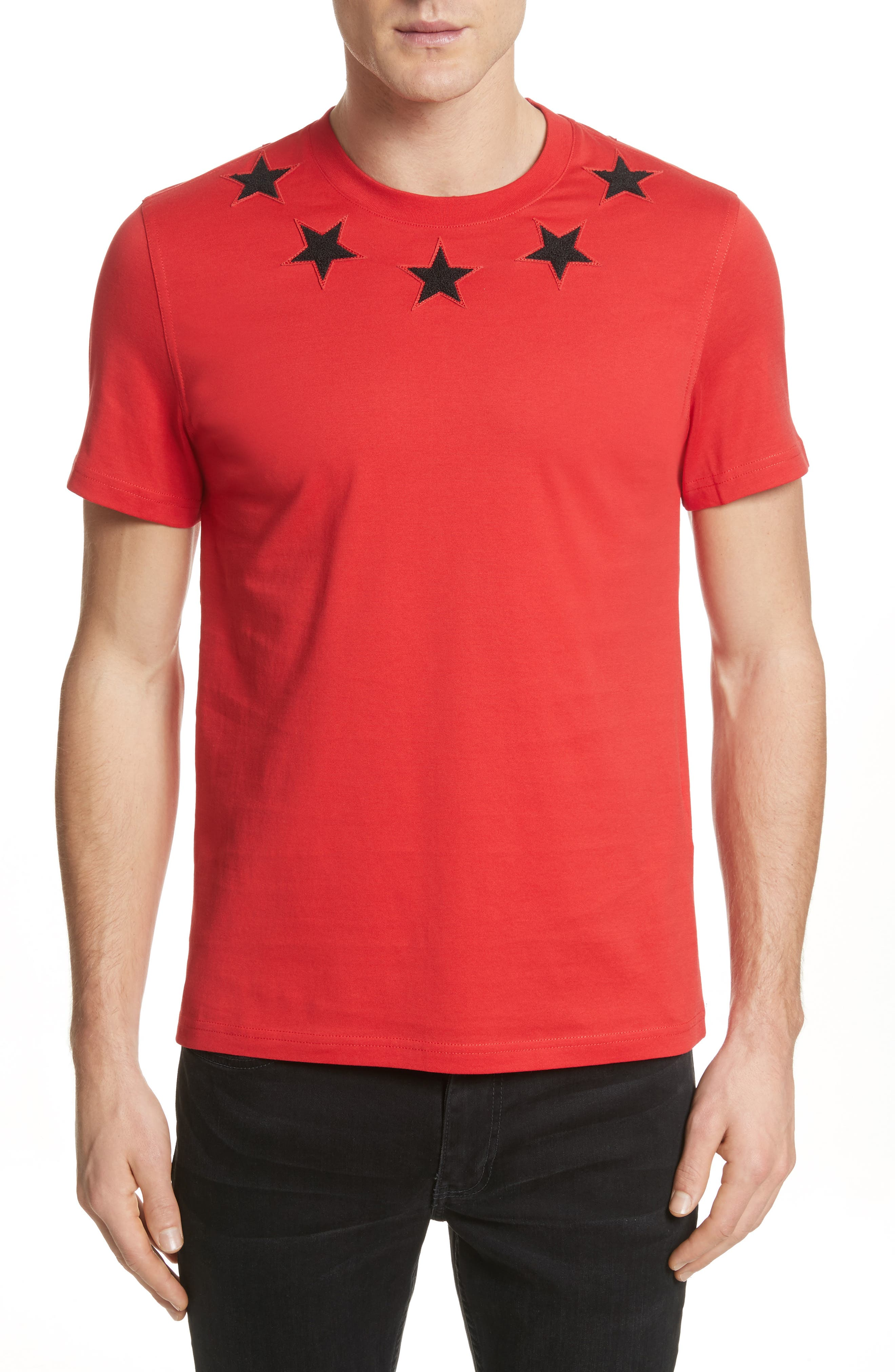 Givenchy Star Appliqué T-Shirt