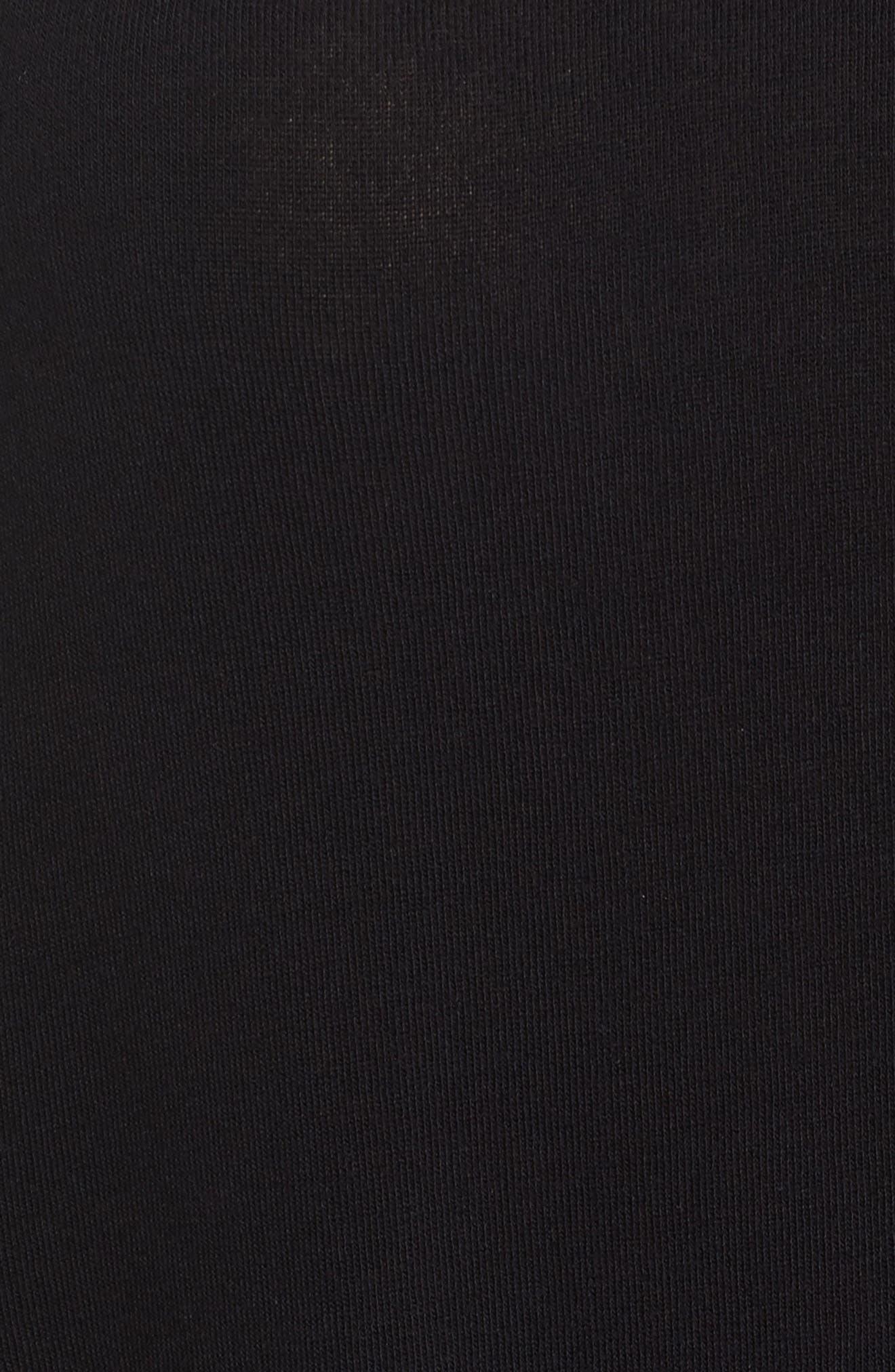 Stitch Detail Pullover,                             Alternate thumbnail 5, color,                             Black