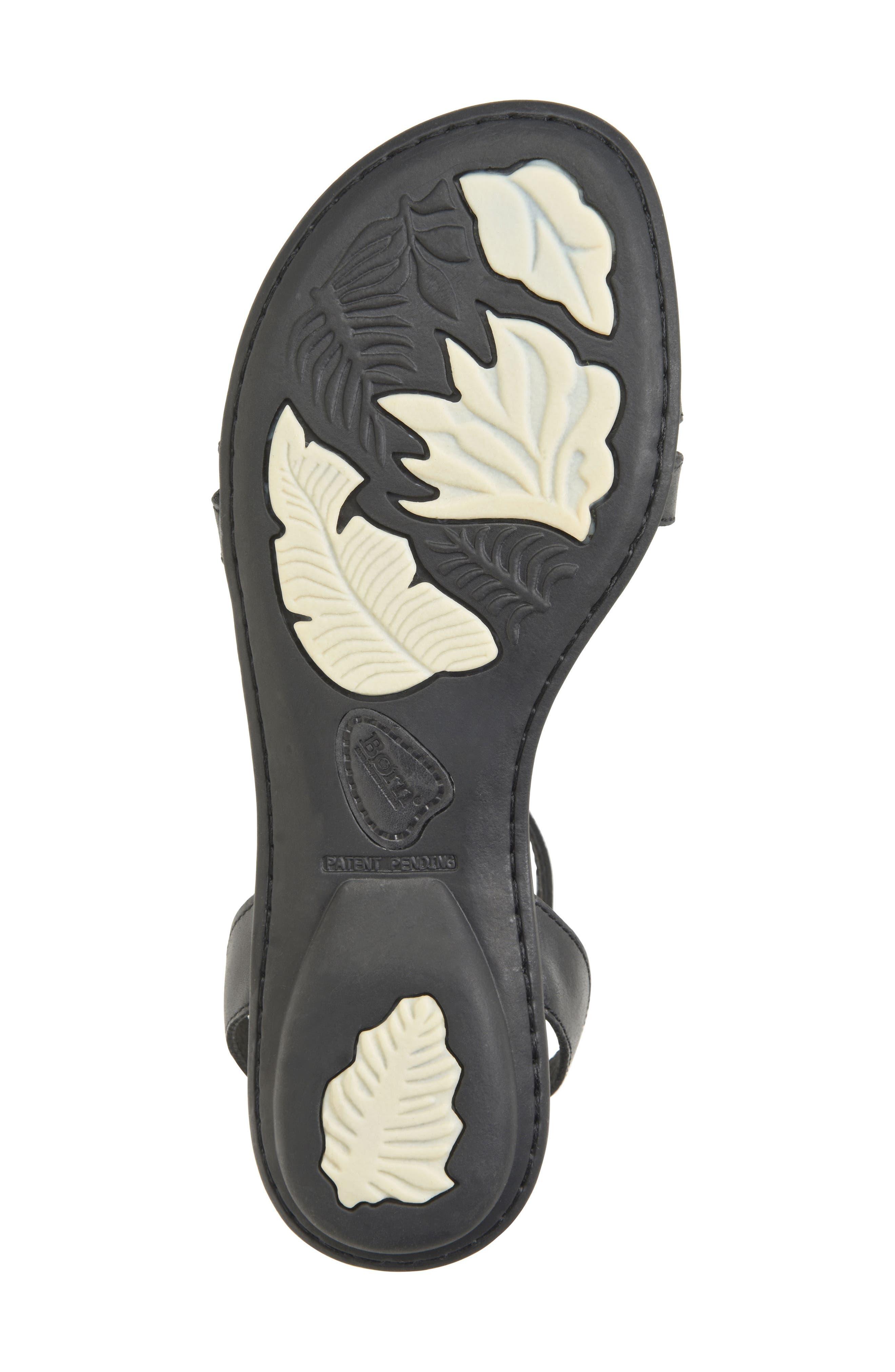 Mai Easy Sandal,                             Alternate thumbnail 6, color,                             Black Leather