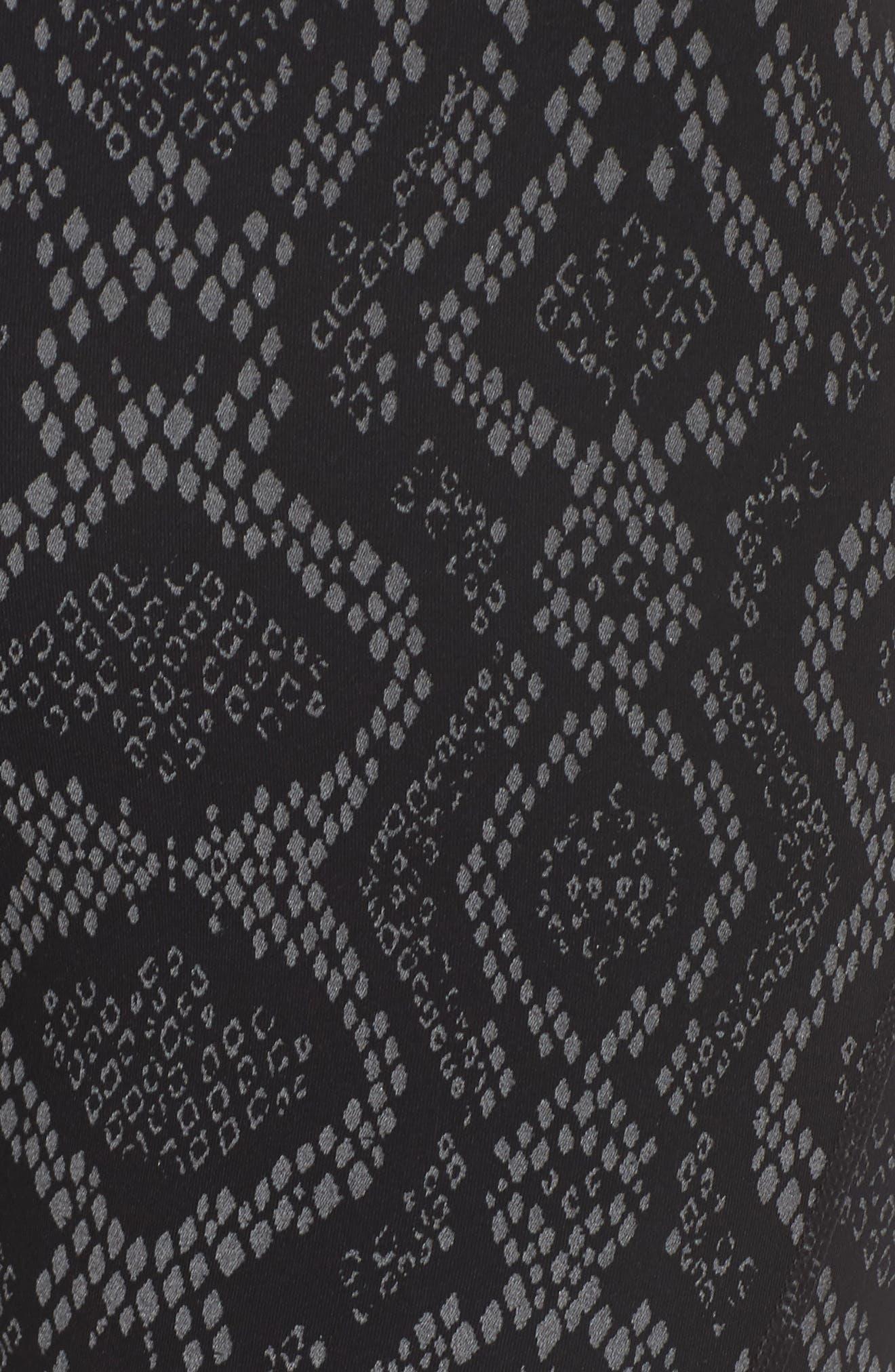 Alden Crop Tights,                             Alternate thumbnail 6, color,                             Midnight Python