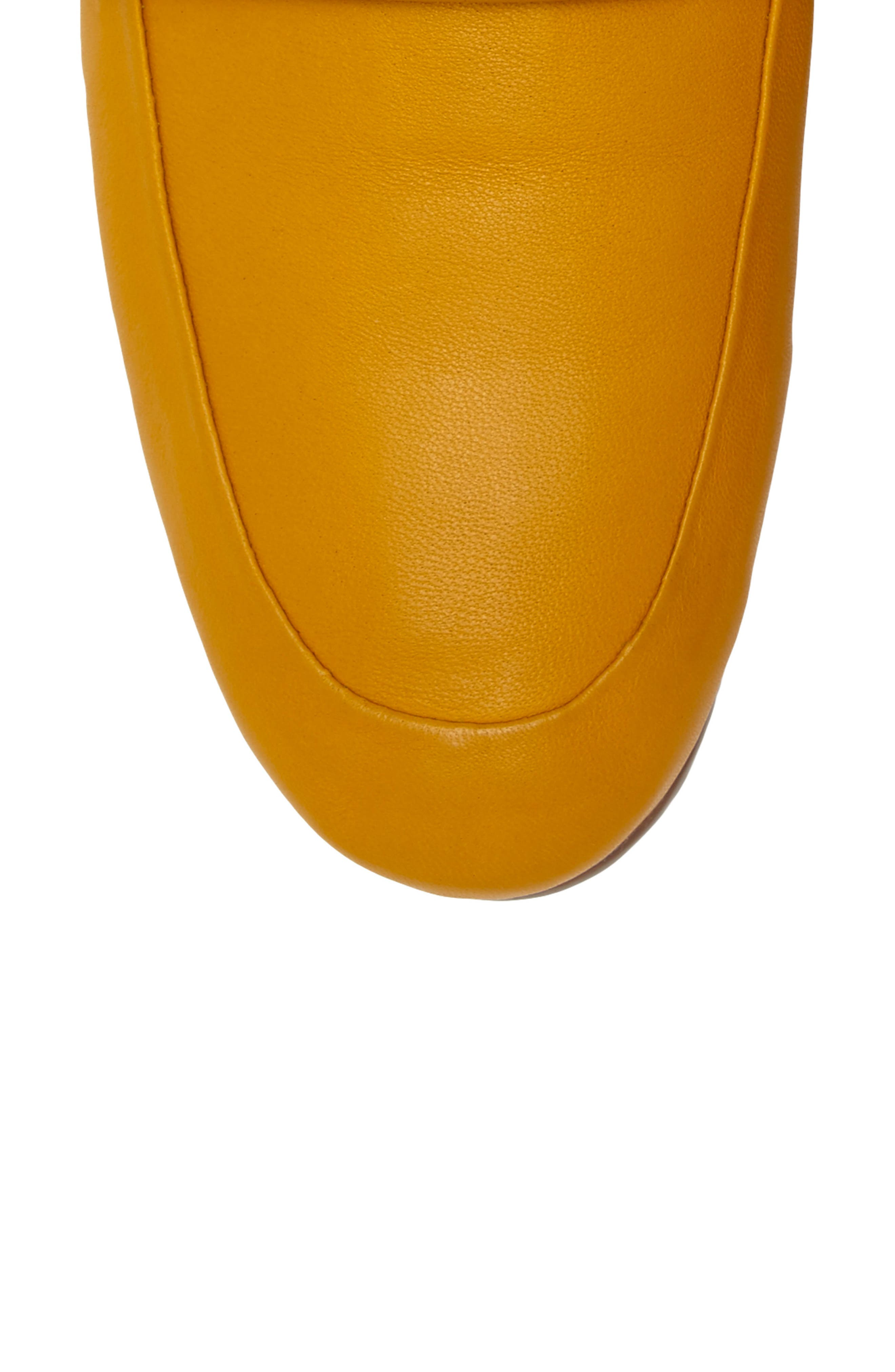 Erin Loafer Flat,                             Alternate thumbnail 4, color,                             Mustard