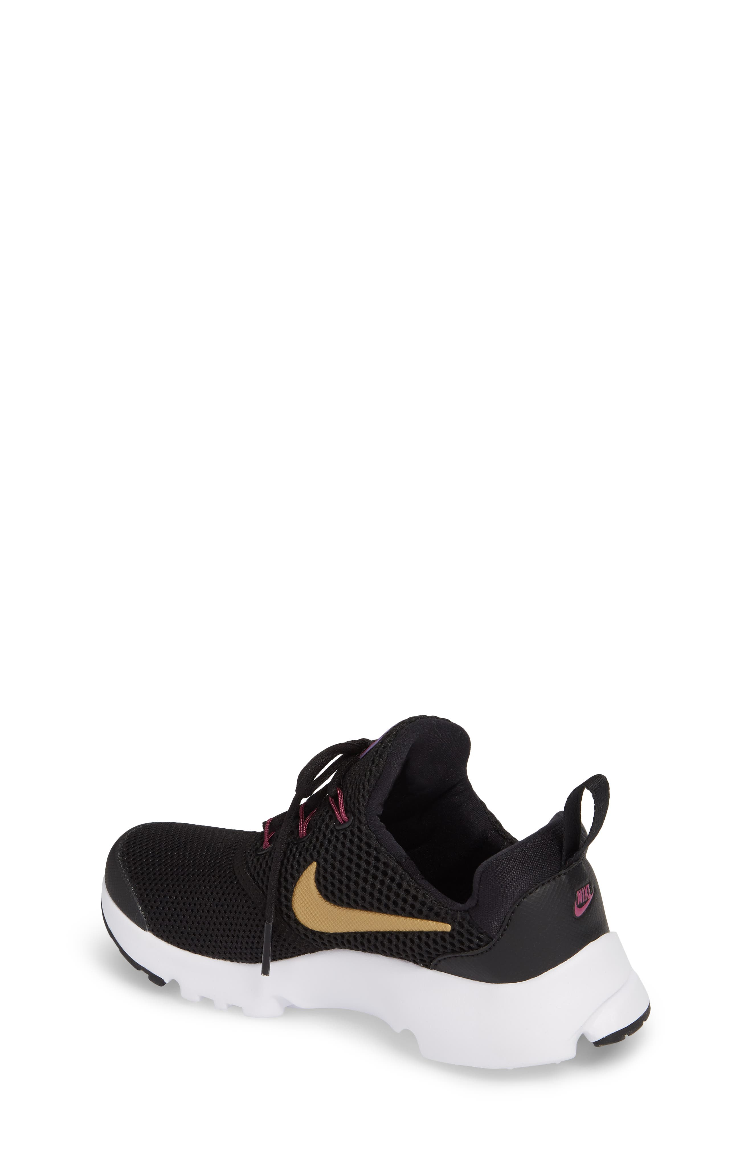 Presto Fly PS Sneaker,                             Alternate thumbnail 2, color,                             Black/ Gold