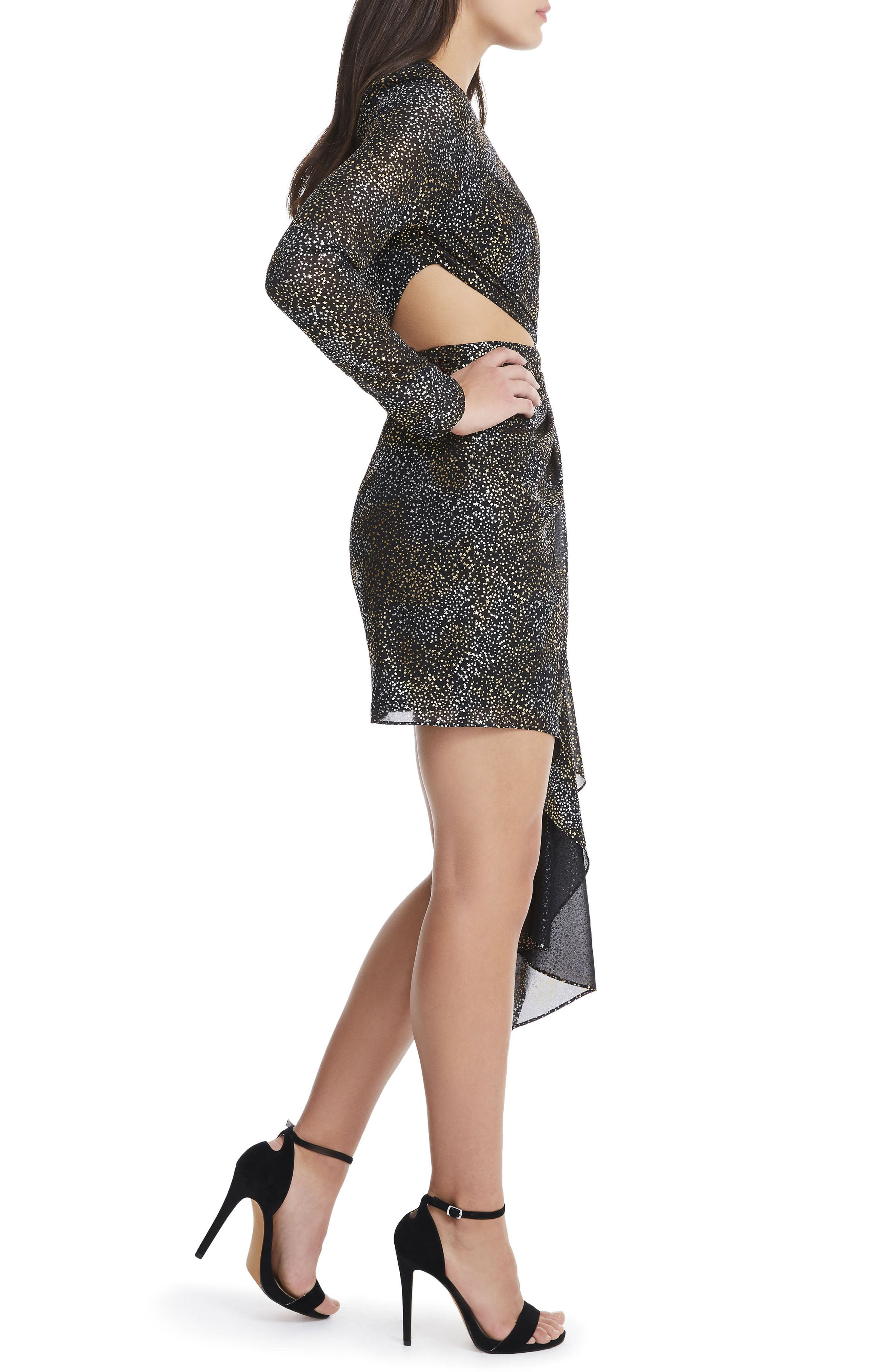 Alternate Image 3  - AFRM Amos Cutout Foil Print Dress