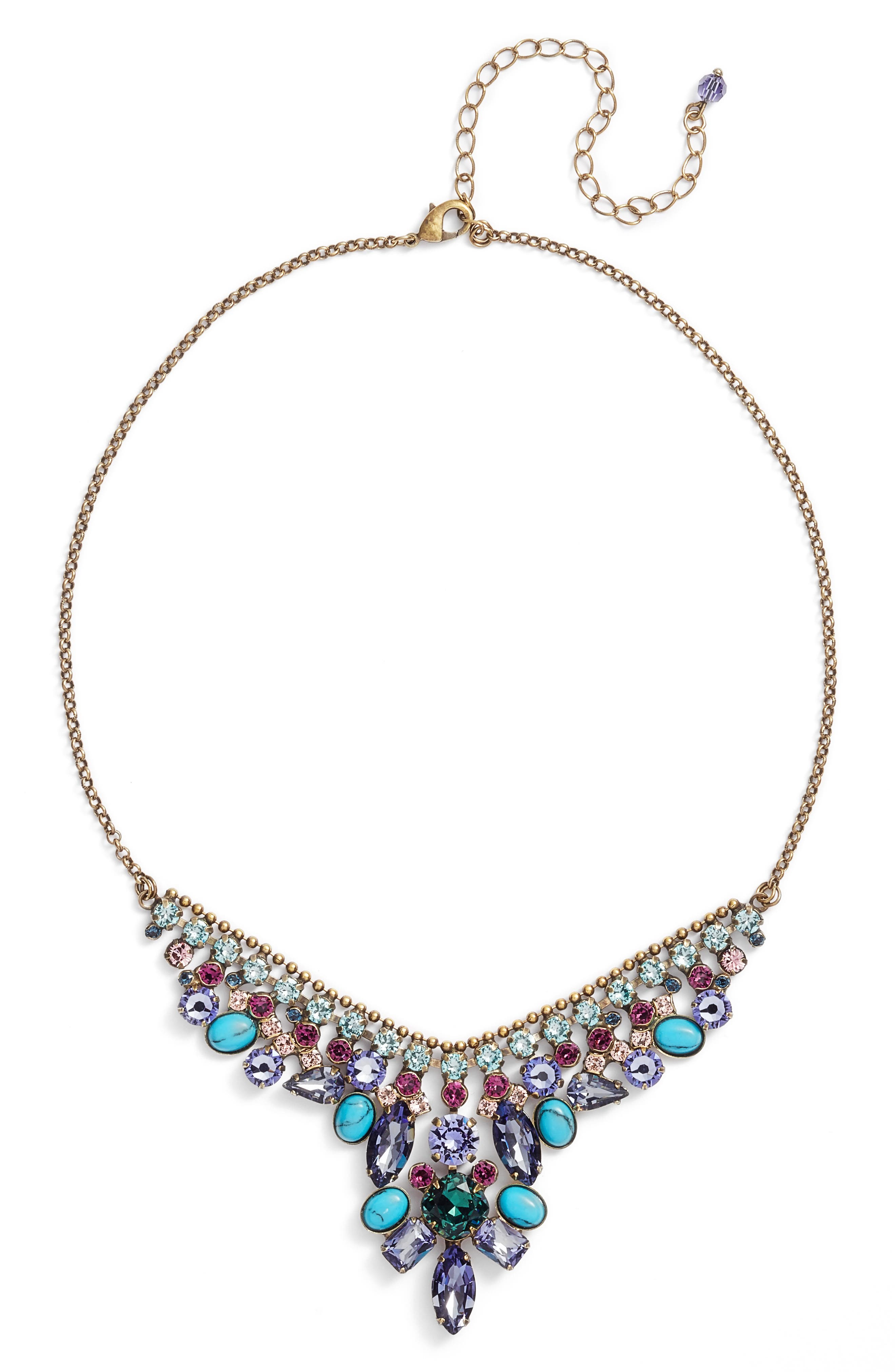 Vervain Frontal Necklace,                         Main,                         color, Multi