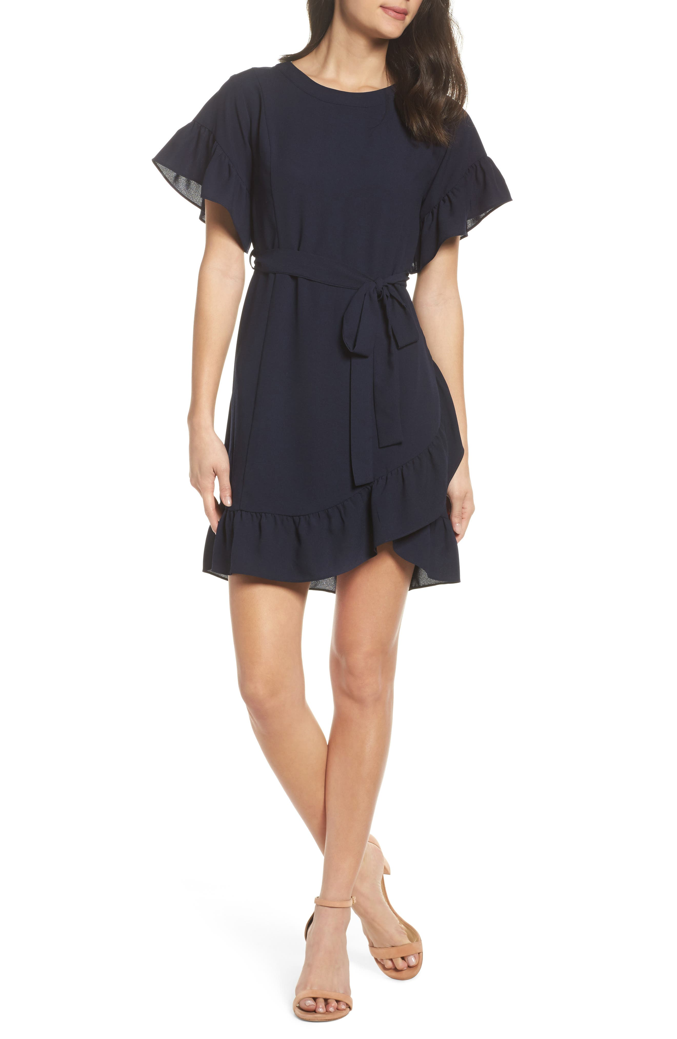 Alternate Image 1 Selected - 19 Cooper Ruffle Tie Waist Dress