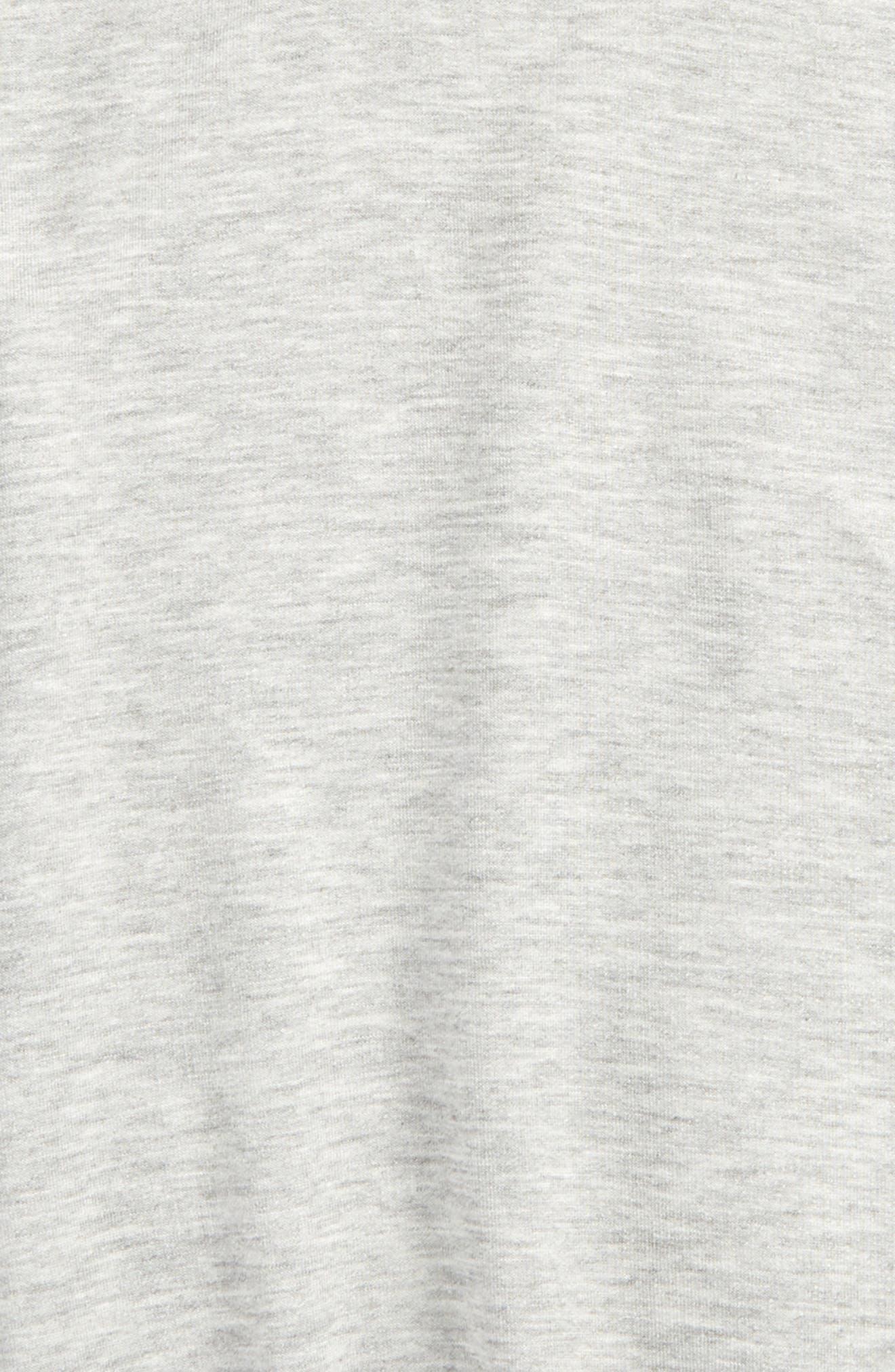 Short Sleeve Dolman Hoodie,                             Alternate thumbnail 2, color,                             Heather As Sample