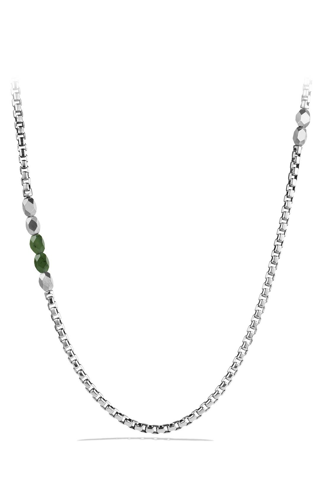 'Faceted' Metal Necklace,                         Main,                         color, Jade