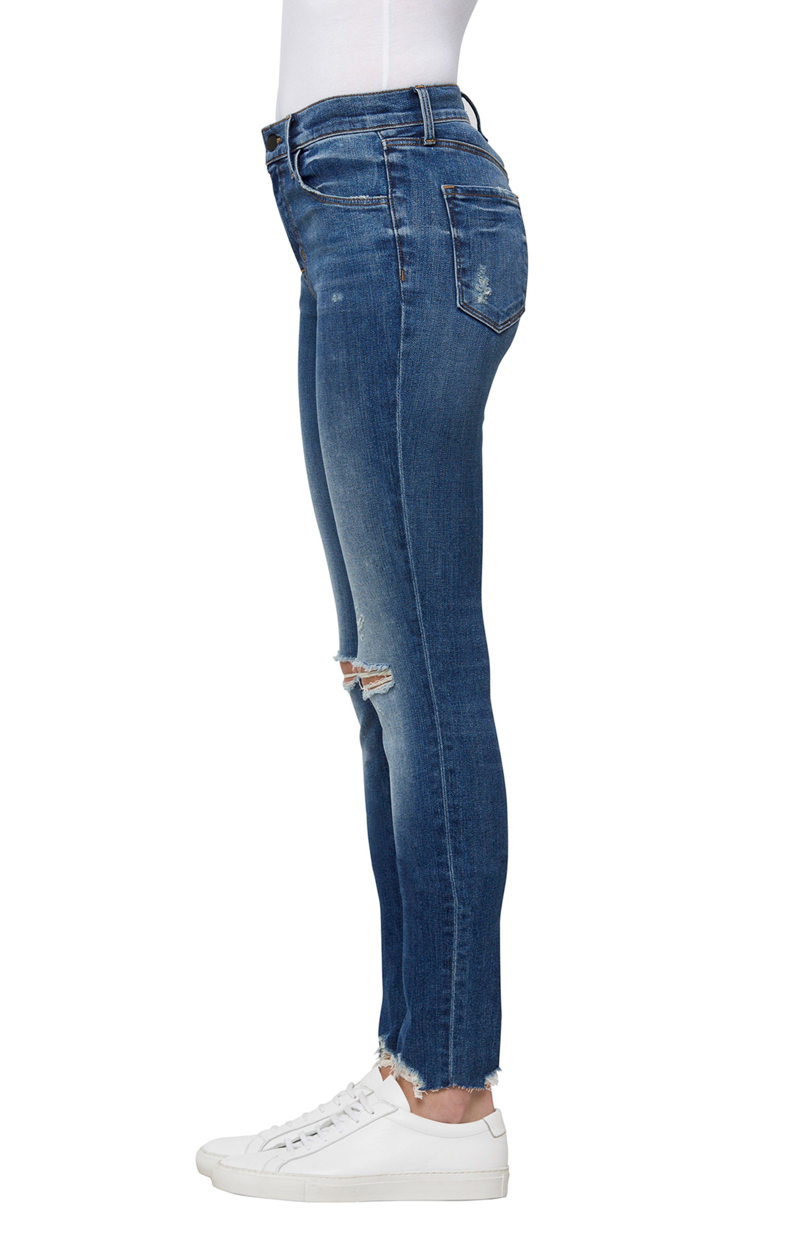 Maria High Waist Skinny Jeans,                             Alternate thumbnail 3, color,                             Revoke Destruct