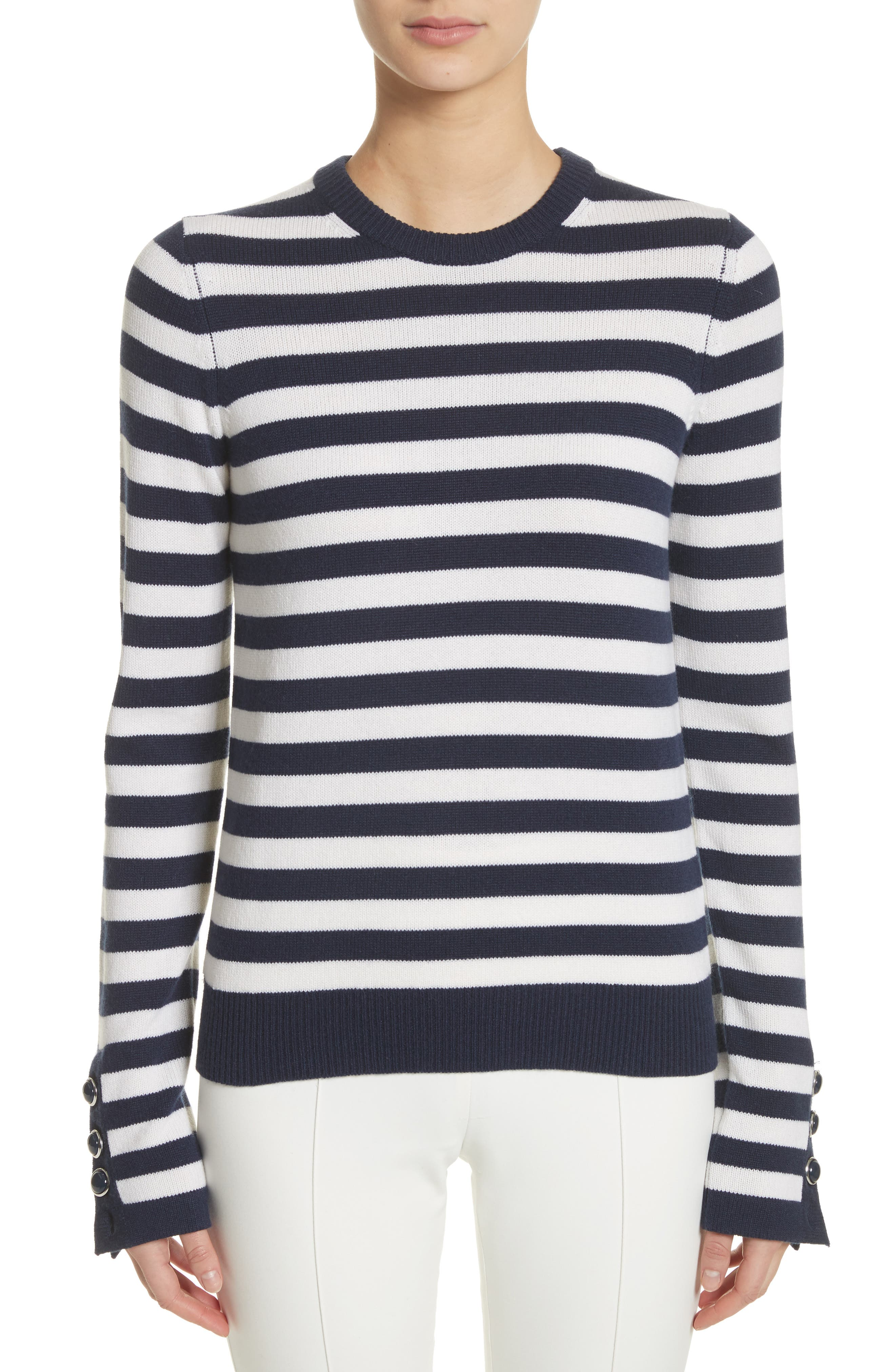 Alternate Image 1 Selected - Michael Kors Button Cuff Cashmere Sweater