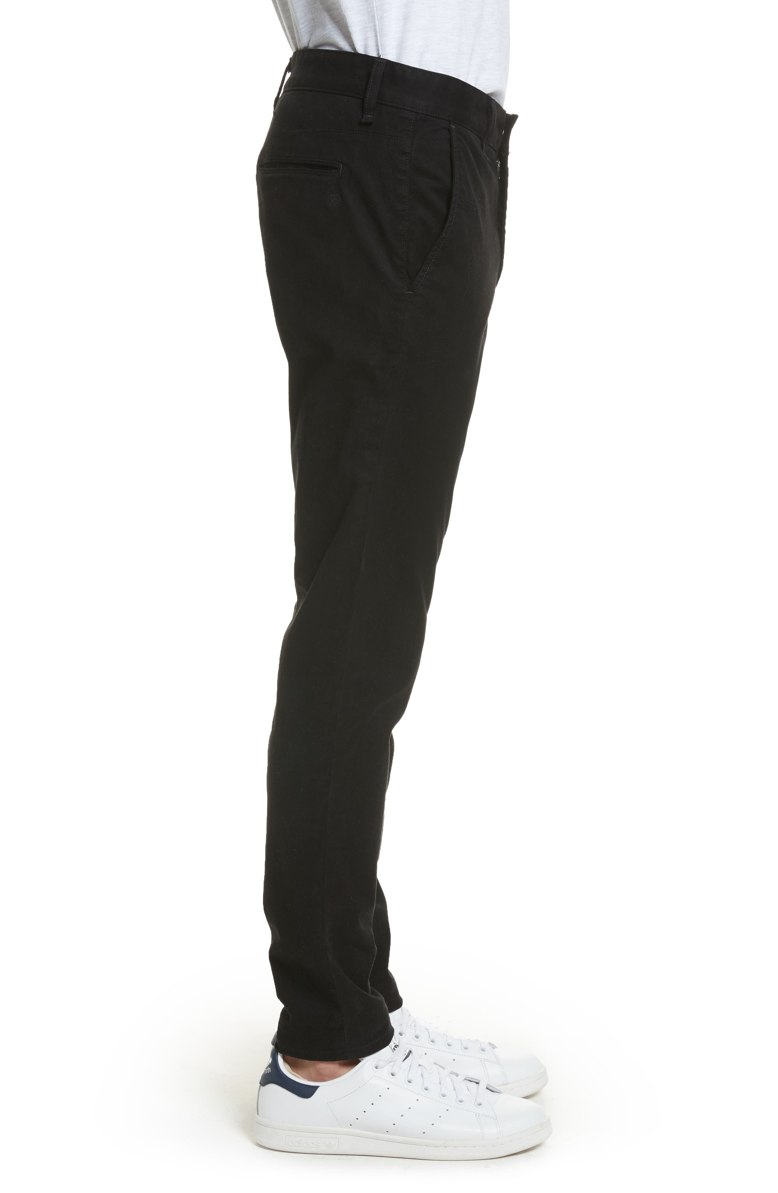 Fit 1 Chinos,                             Alternate thumbnail 3, color,                             Black