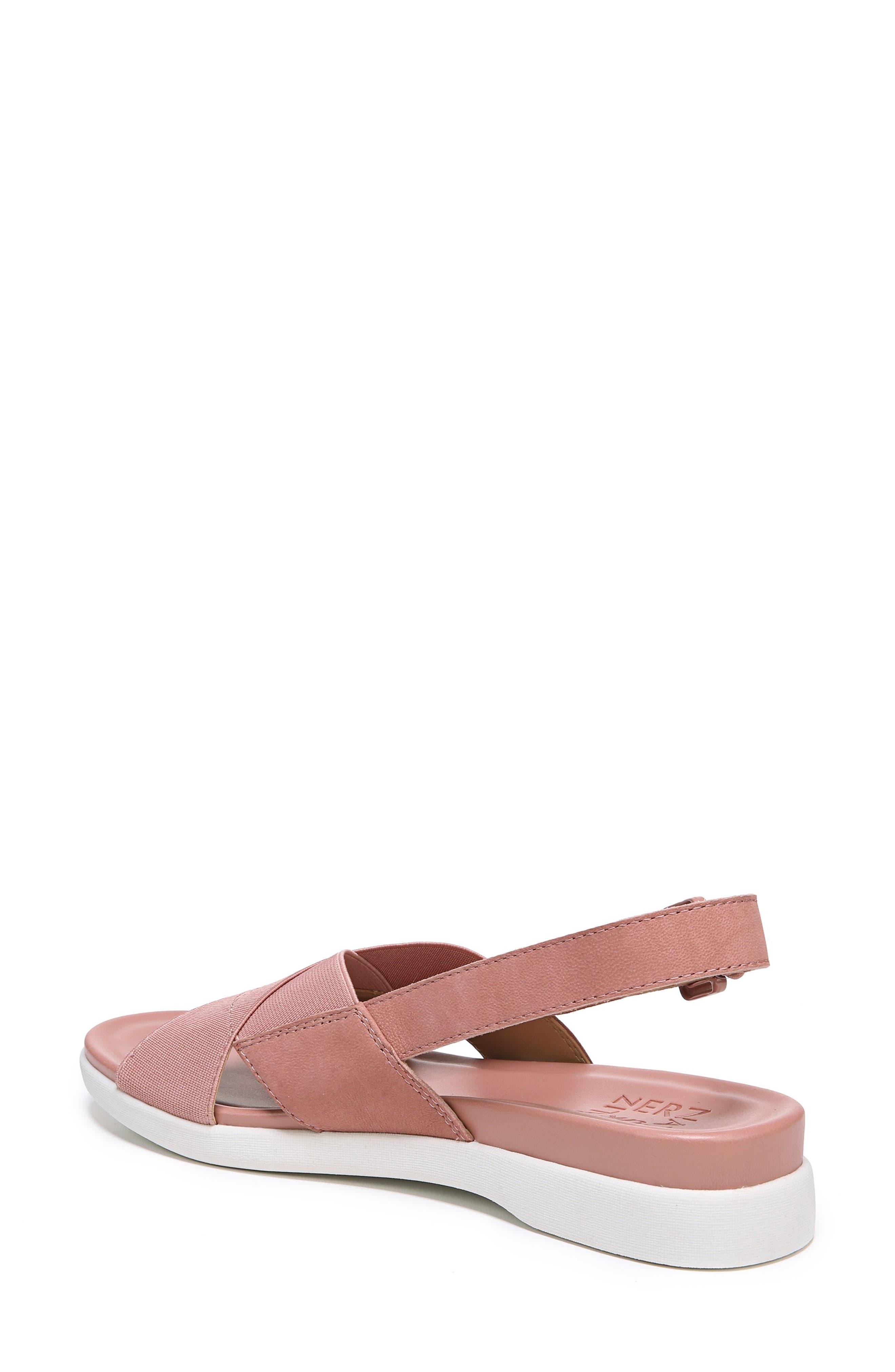 Eliza Wedge Sandal,                             Alternate thumbnail 2, color,                             Pink Nubuck Leather