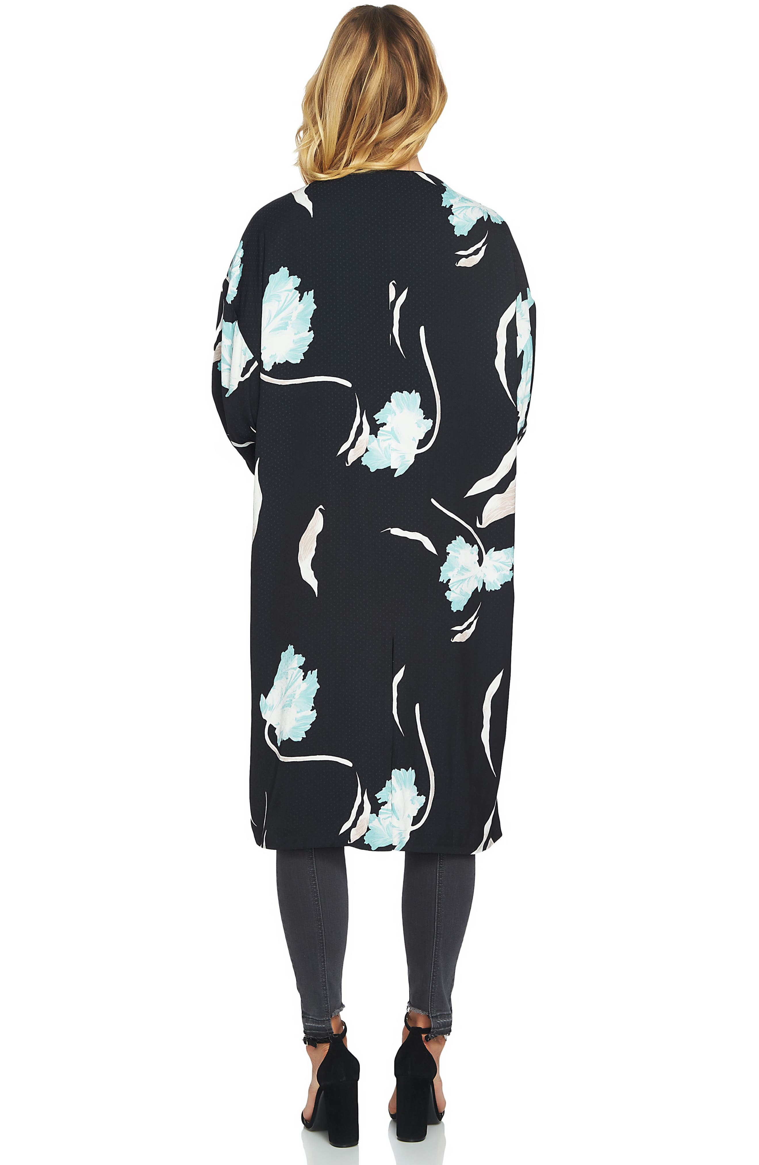 Alternate Image 2  - 1.STATE Floral Print Collarless Jacket
